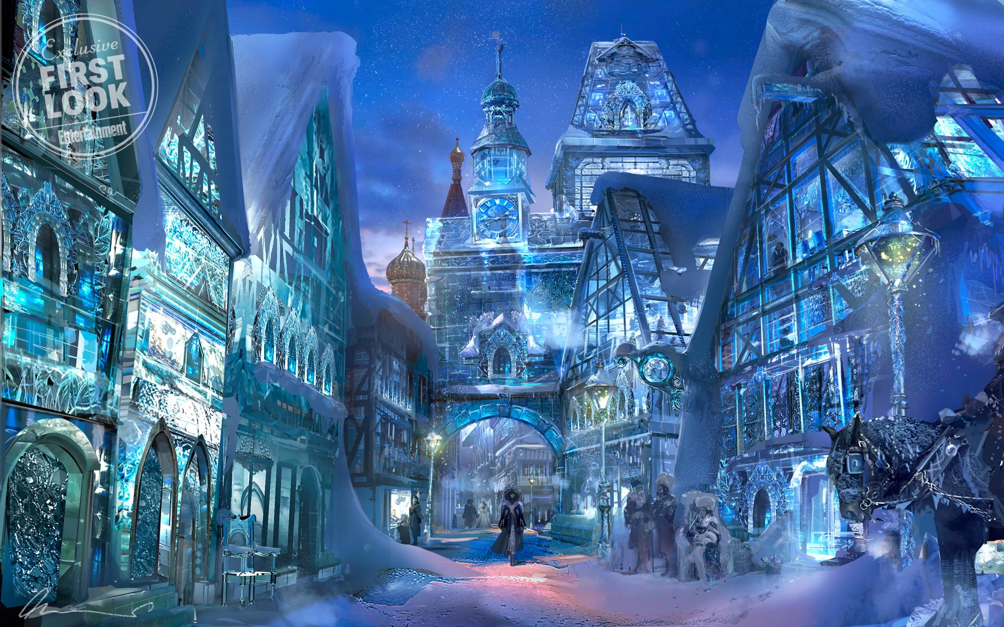 THE NUTCRACKER AND THE FOUR REALMSConcept art of the Land of Snowflakes