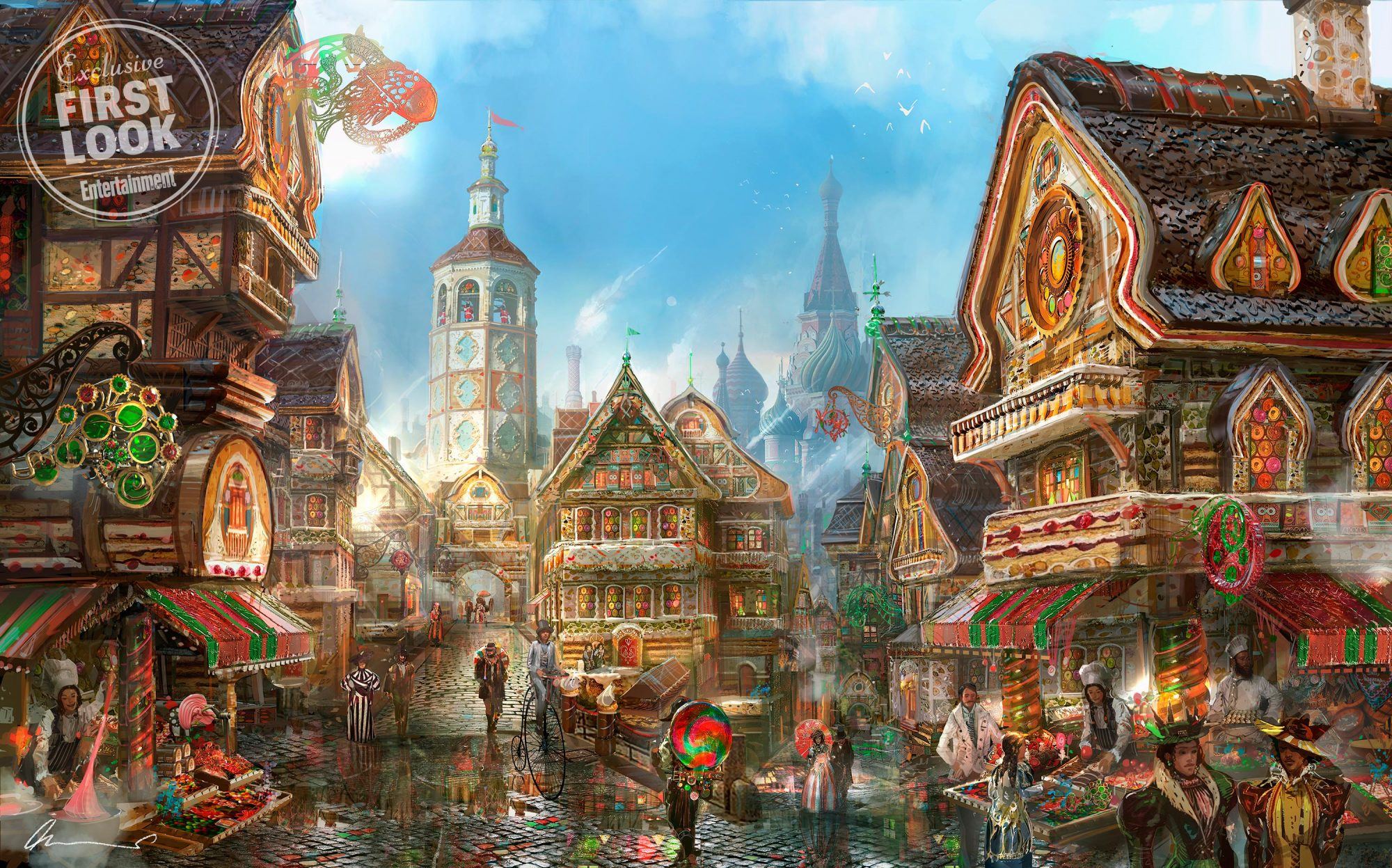 THE NUTCRACKER AND THE FOUR REALMSConcept art of the Land of the Sweets