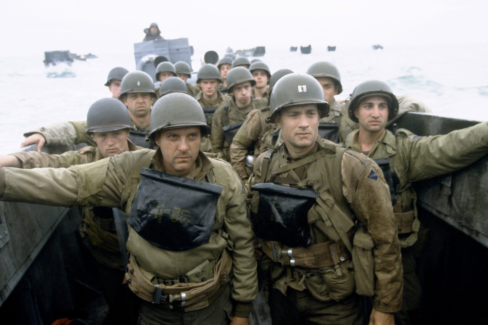 Saving Private Ryan (1998)TOM SIZEMORE (L) and TOM HANKS