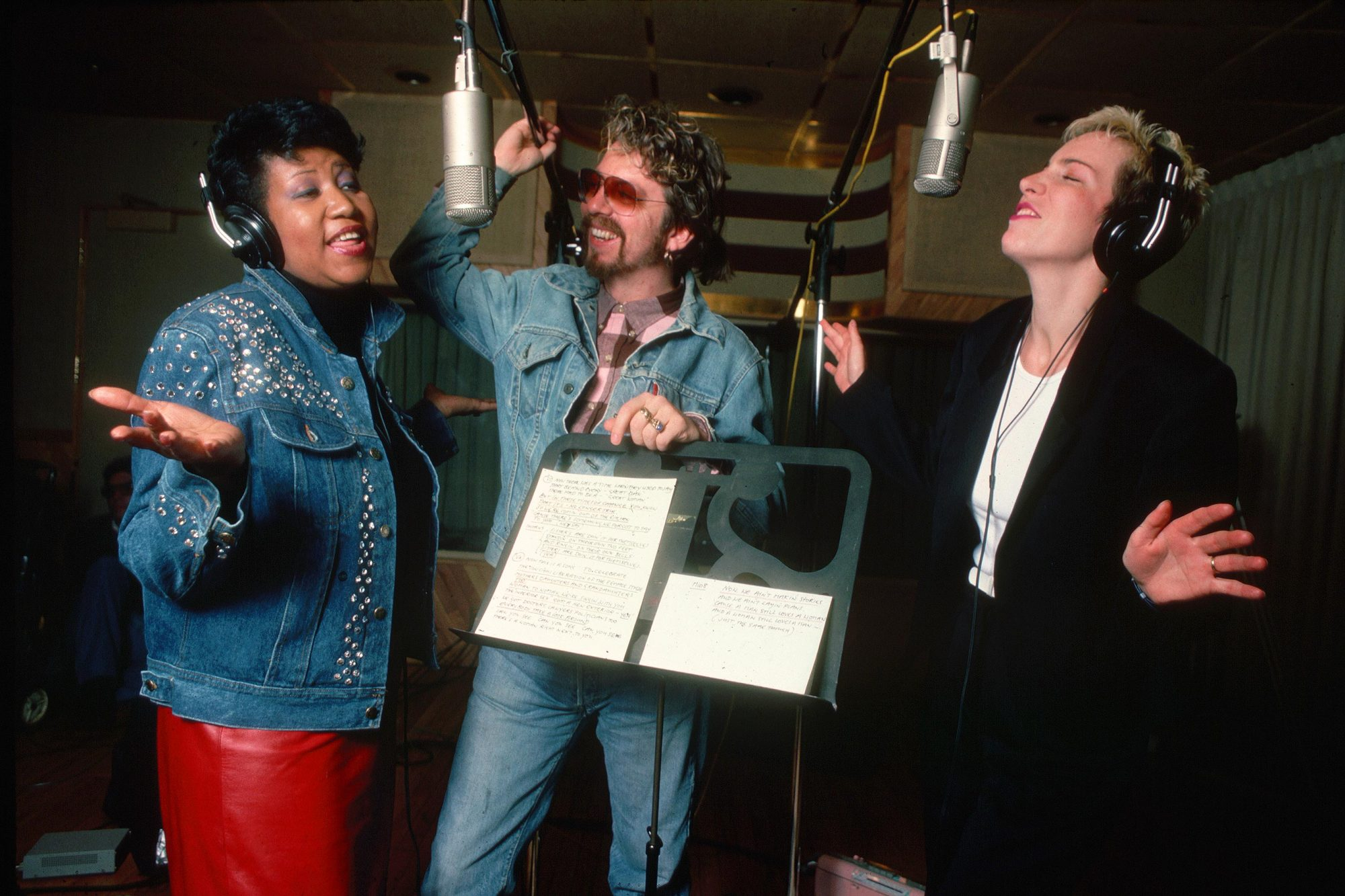 Aretha Franklin, Dave Stewart, and Annie Lennox