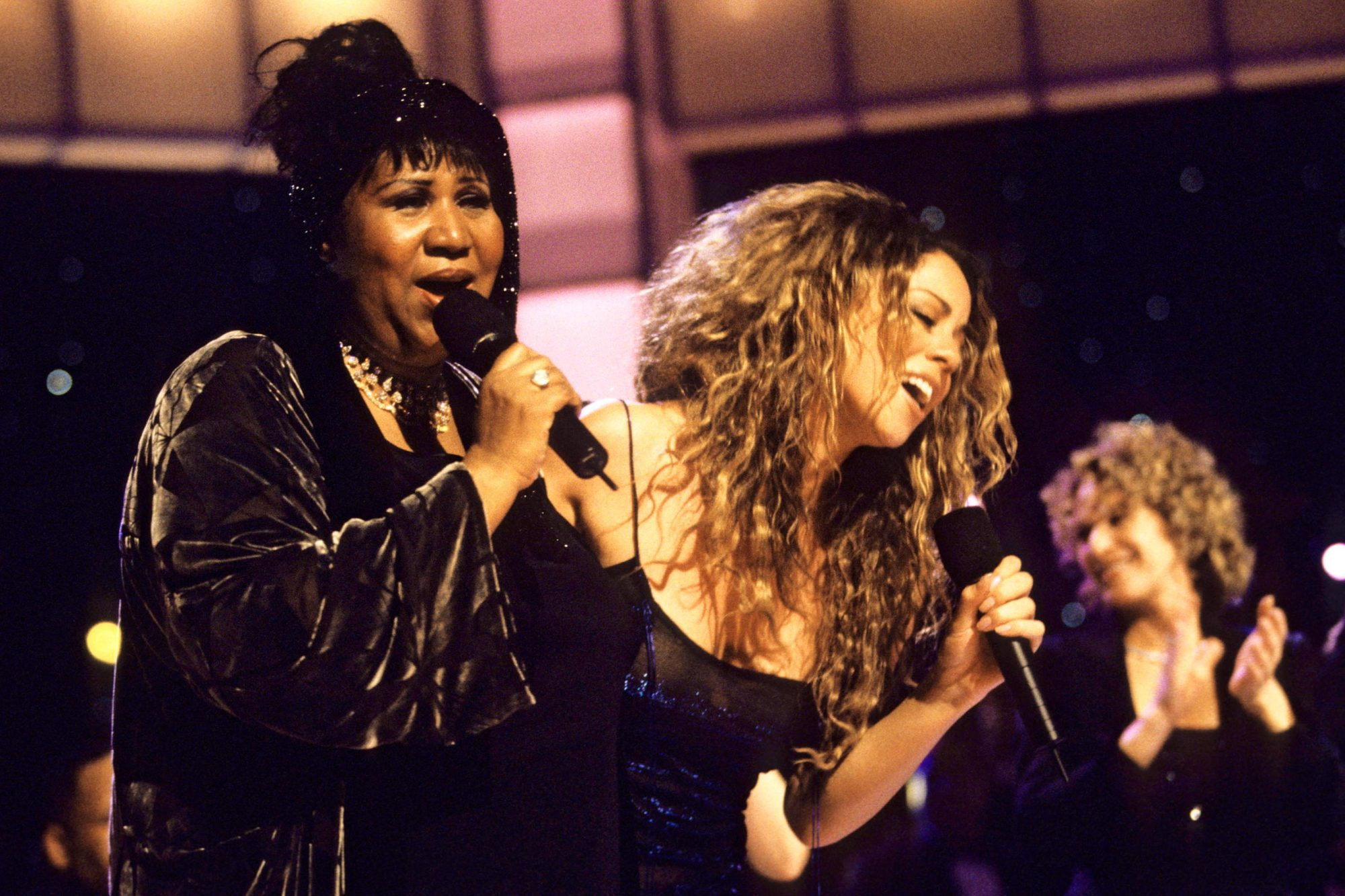 Performing with Mariah Carey for VH1 Divas Live in 1998