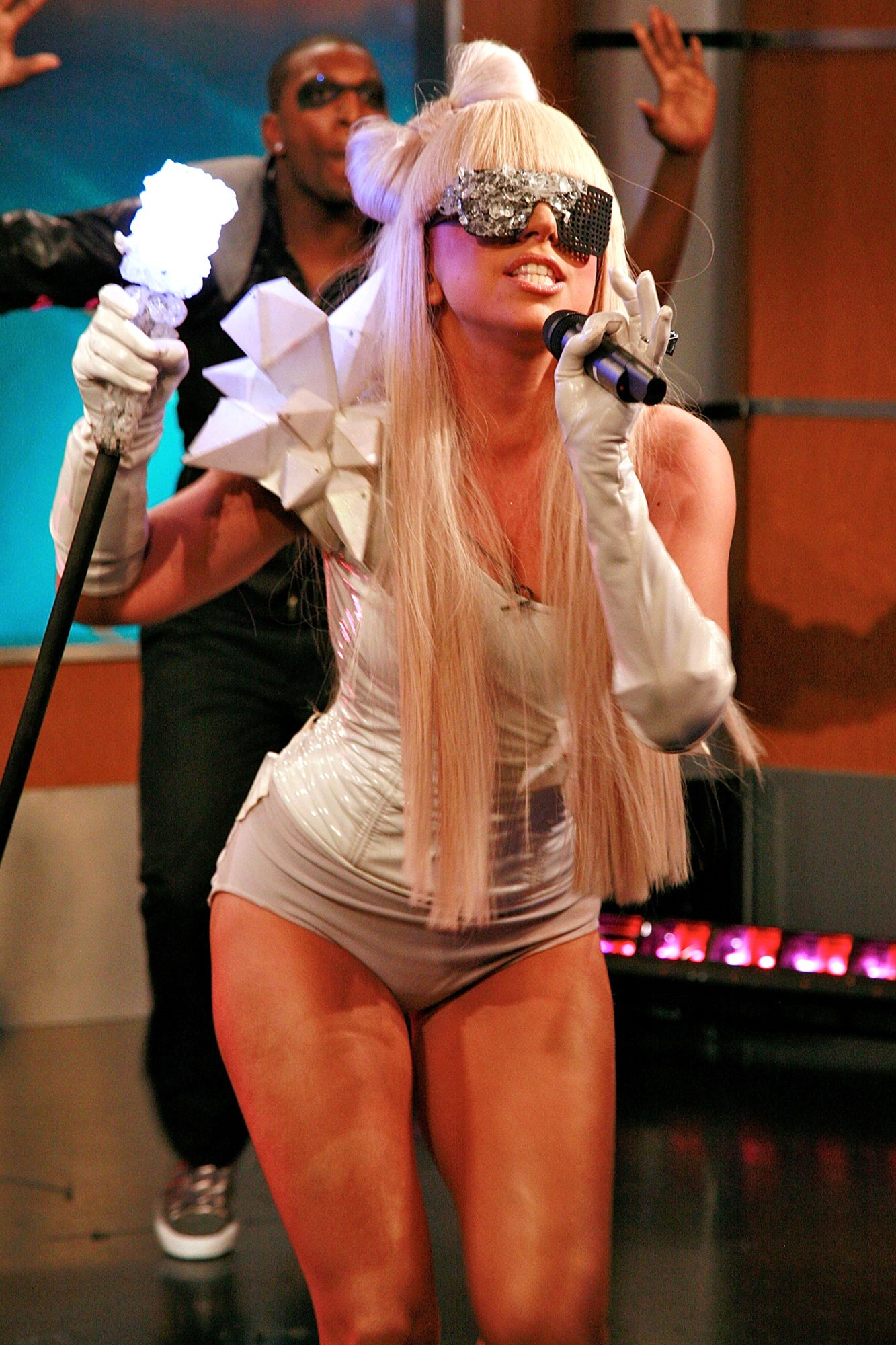 "Lady Gaga and Chris Jericho Visit FOX's ""Good Day New York"" - Octobe"