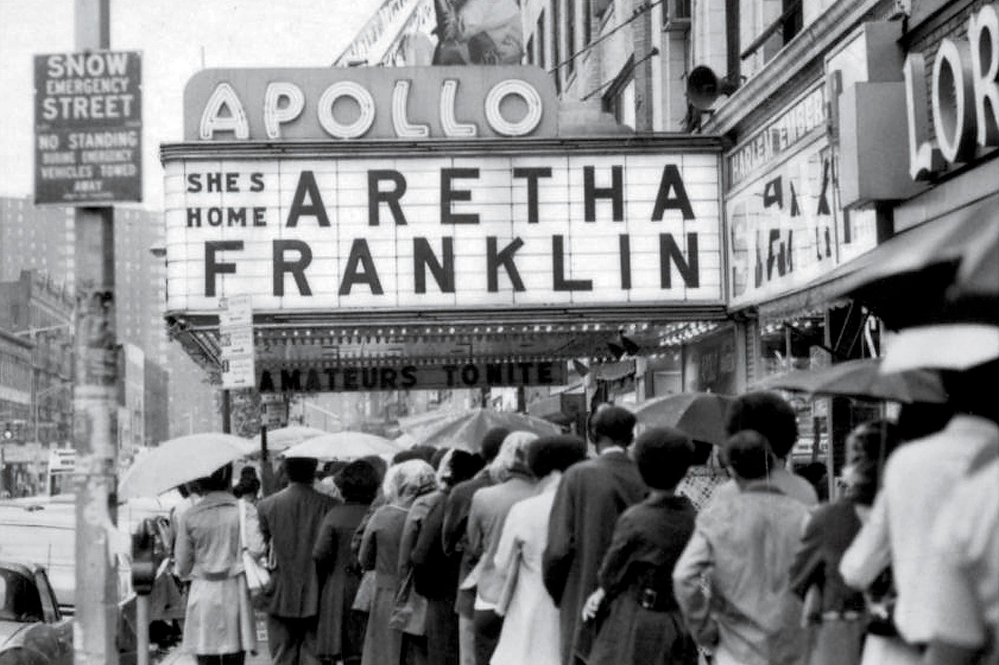 View of the Apollo Theater in New York in 1971