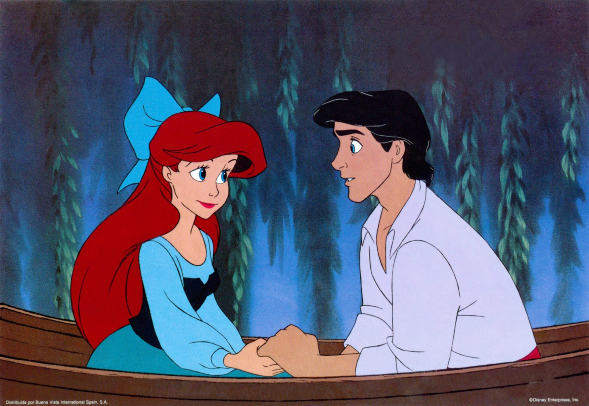 THE LITTLE MERMAID, from left: Ariel, Prince Eric, 1989, © Walt Disney/courtesy Everett Collection