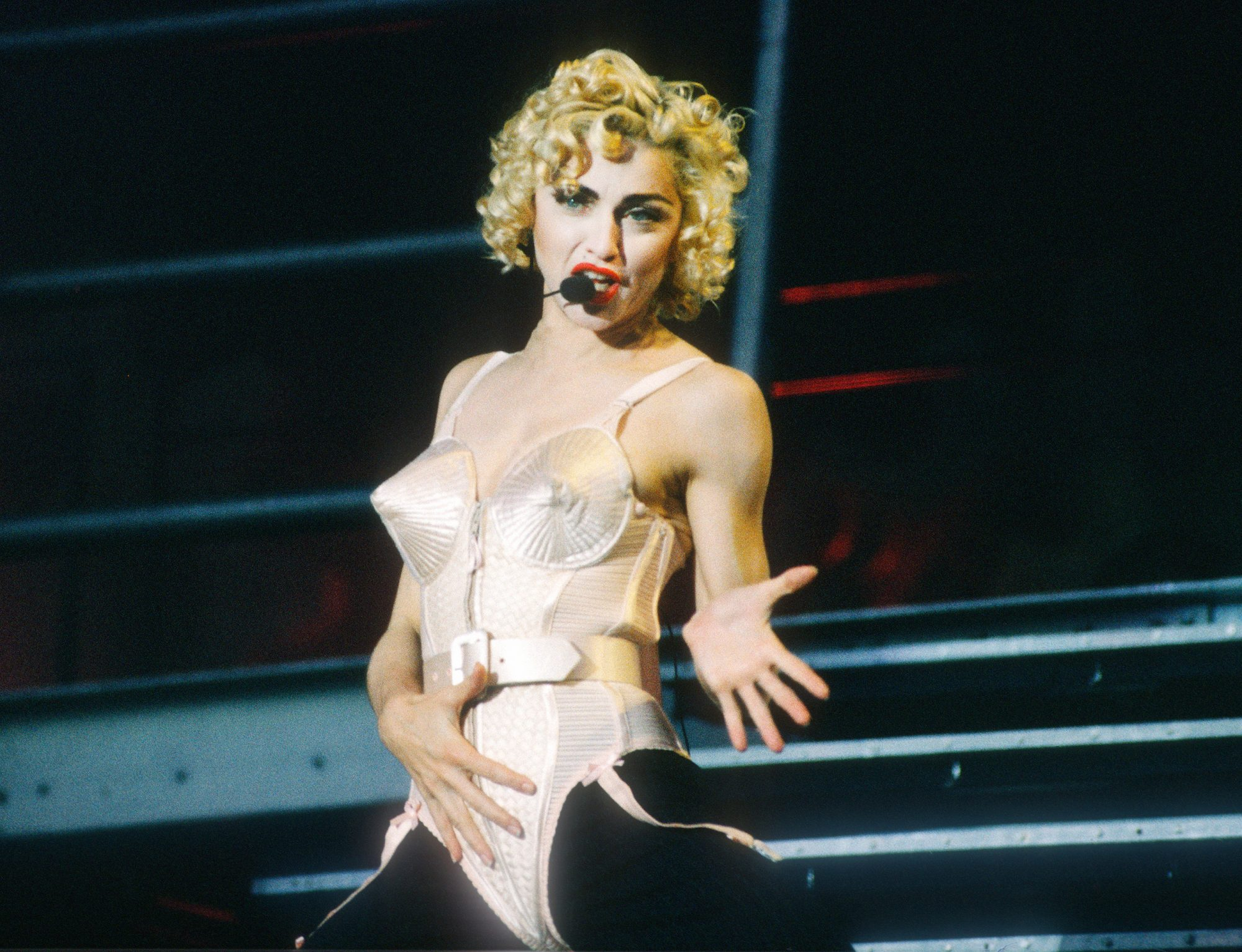 1990: Onstage during the Blonde Ambition Tour