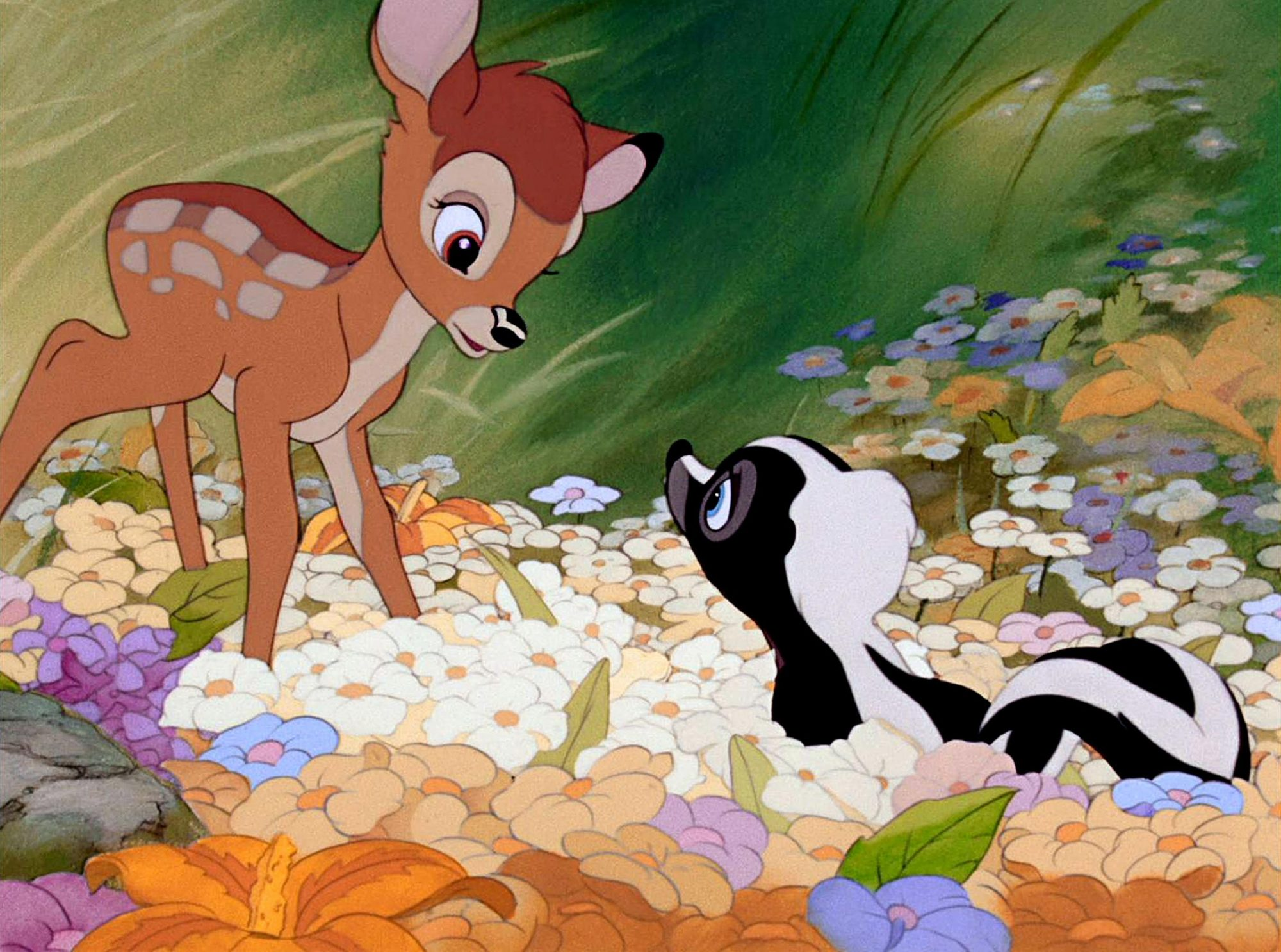 BAMBI, Bambi, Flower, 1942. © Walt Disney / Courtesy: Everett Collection