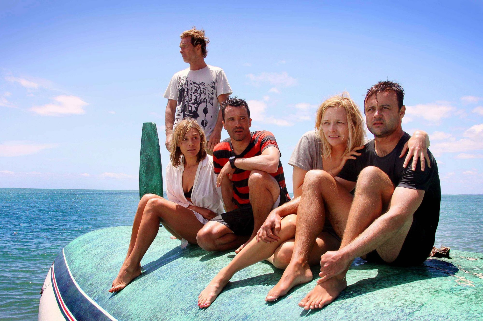 THE REEF, from left: Kieran Darcy-Smith (back), Zoe Naylor, Damian Walshe-Howling, Adrienne Pickerin