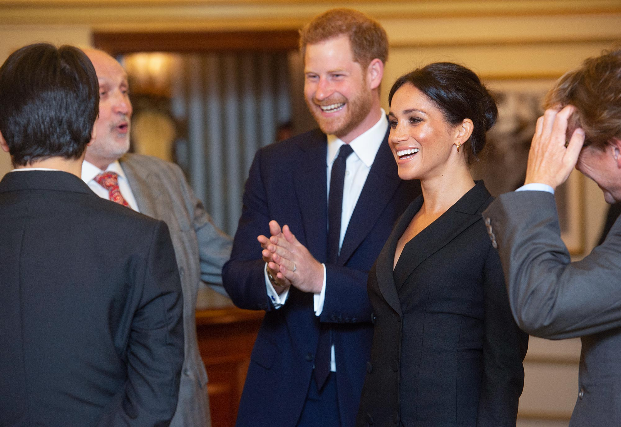"""The Duke & Duchess Of Sussex Attend A Gala Performance Of """"Hamilton"""" In Support Of Sentebale"""