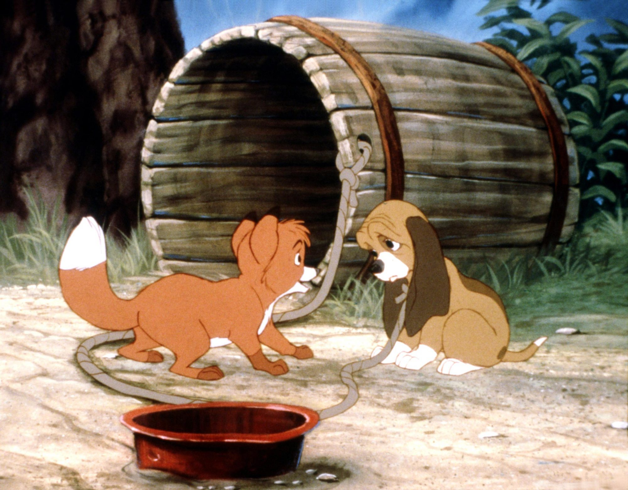 THE FOX AND THE HOUND, from left: Tod, Copper, 1981, © Buena Vista/courtesy Everett Collection