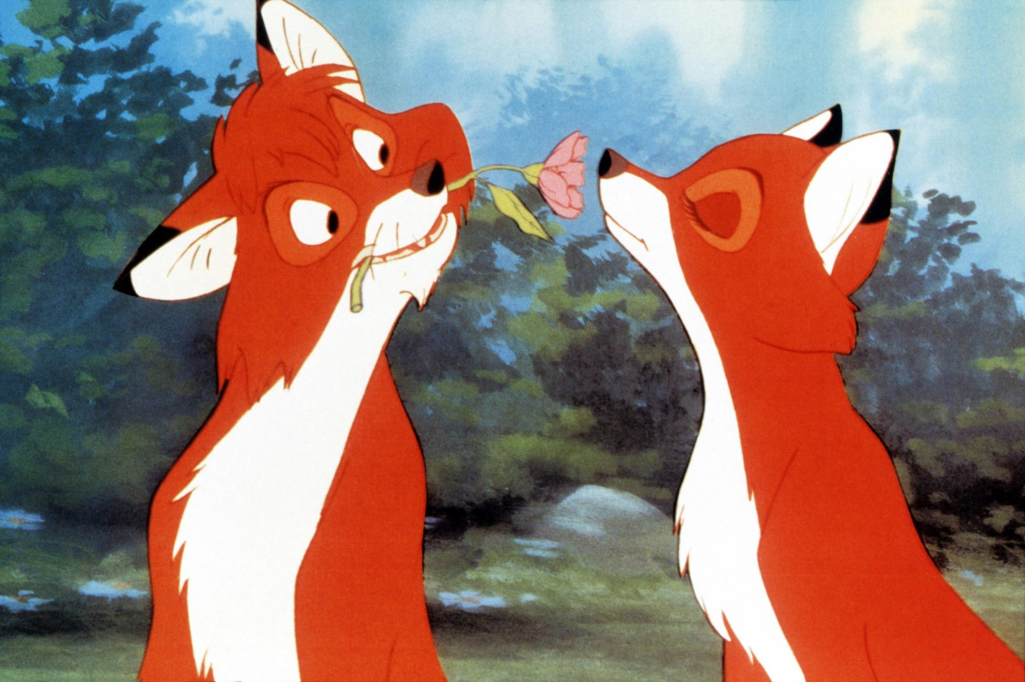 THE FOX AND THE HOUND, from left: Tod, Vixie, 1981, © Buena Vista/courtesy Everett Collection