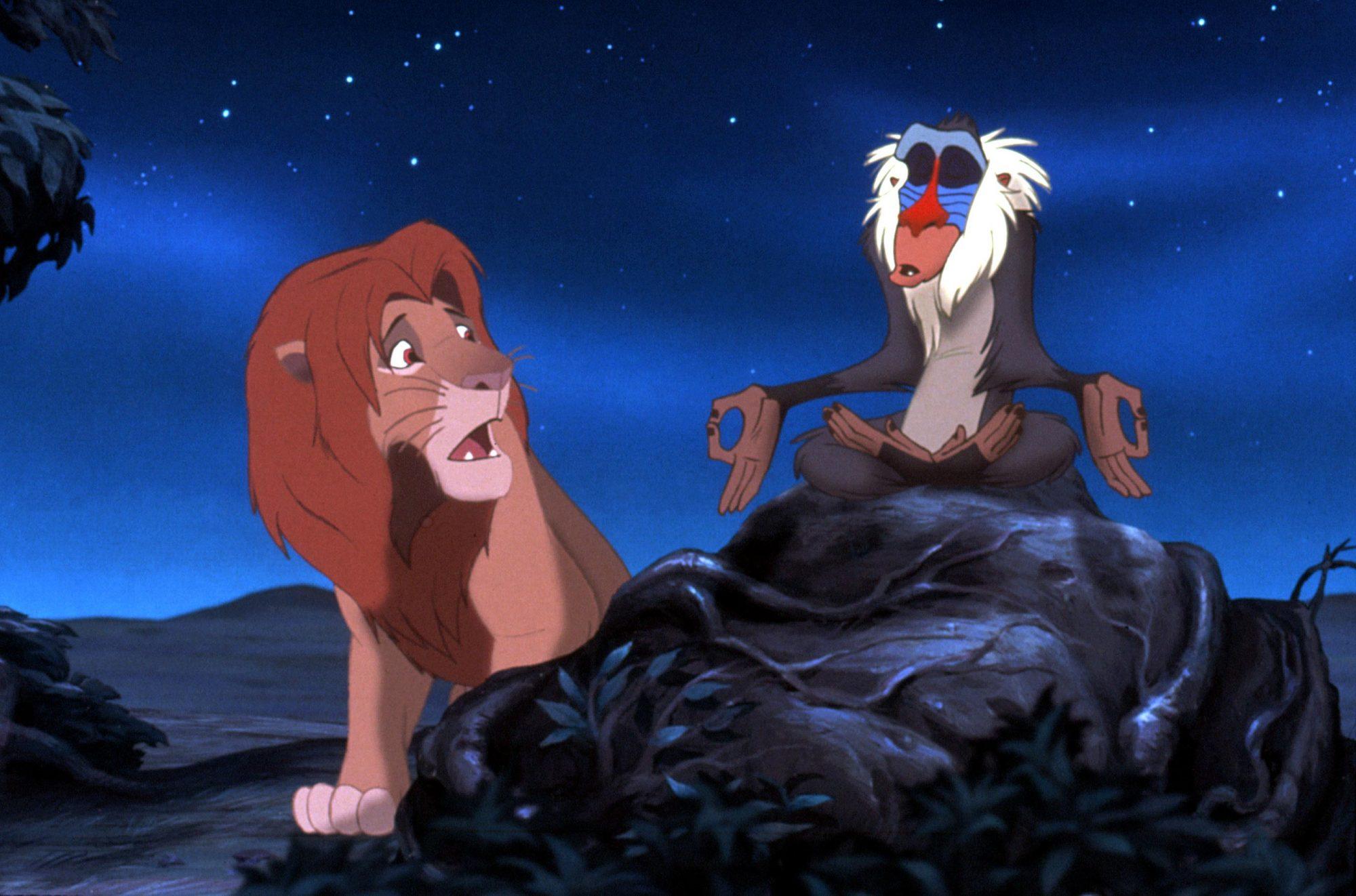 THE LION KING, Simba, Rafiki, 1994, (c)Buena Vista Pictures/courtesy Everett Collection