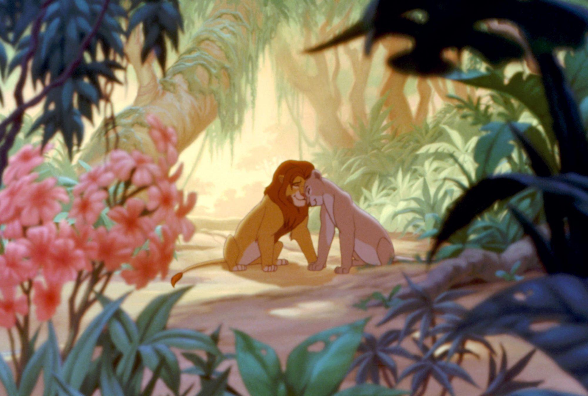 THE LION KING, Simba, voice of Matthew Broderick, Nala, voice of Moira Kelly, 1994. ©Buena Vista Pic