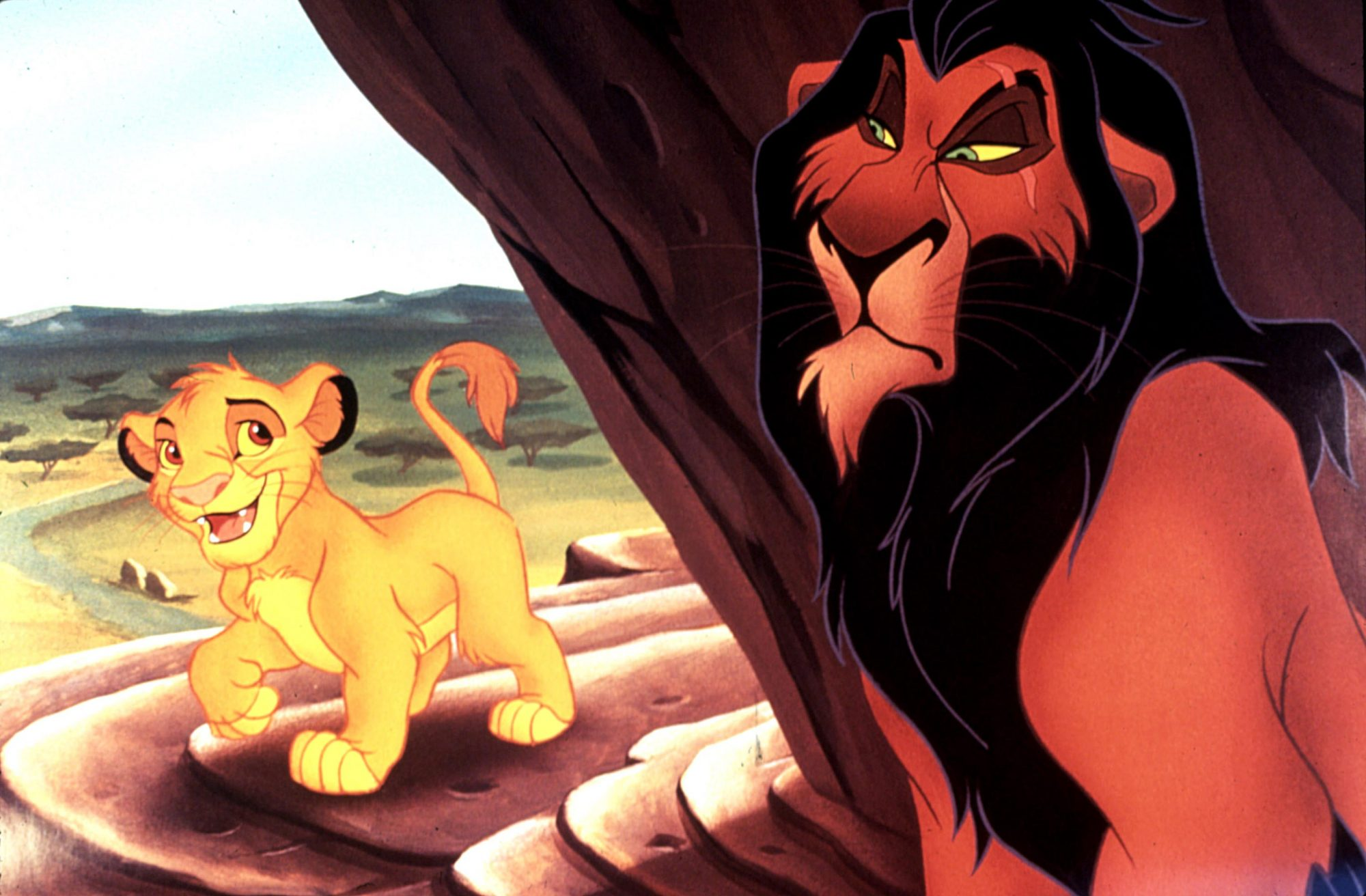 THE LION KING, Simba, Scar, 1994. ©Buena Vista Pictures/Courtesy Everett Collection