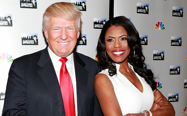 ALL CROPS: 165185507 Businessman Donald Trump and actress Omarosa Manigault attend the 'All-Star Celebrity Apprentice' Red Carpet Event at Trump Tower on April 1, 2013 in New York City. (Photo by Charles Eshelman/FilmMagic)