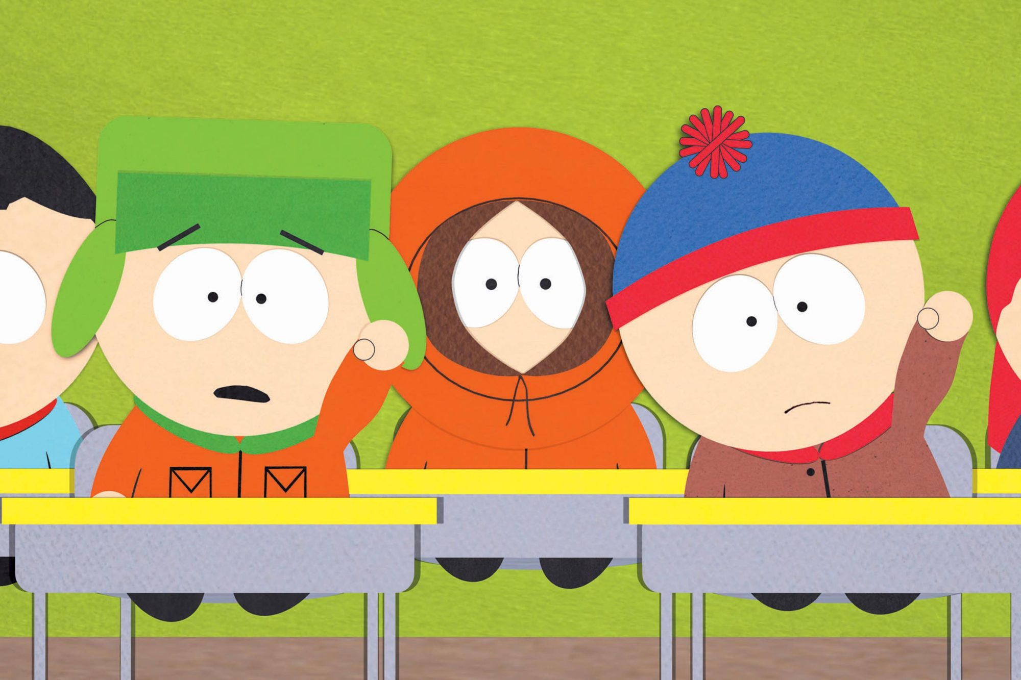 South ParkGalleryl-r: Kyle, Kenny, Stan