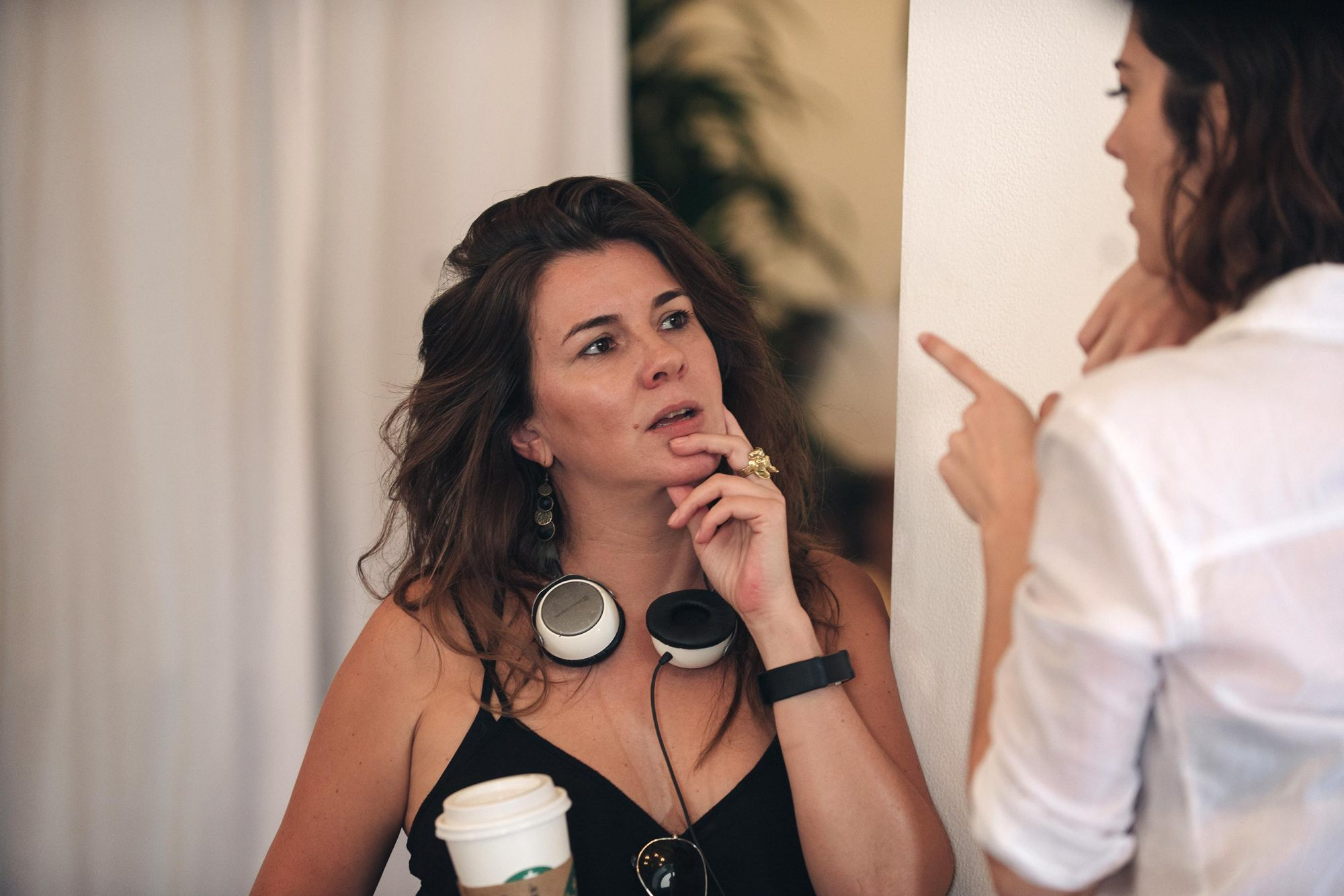All About NinaDirector Eva Vives and Mary Elizabeth Winstead on set