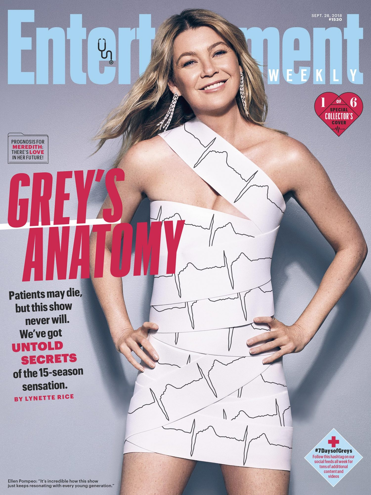 Collector's Cover #1: Ellen Pompeo (Dr. Meredith Grey)