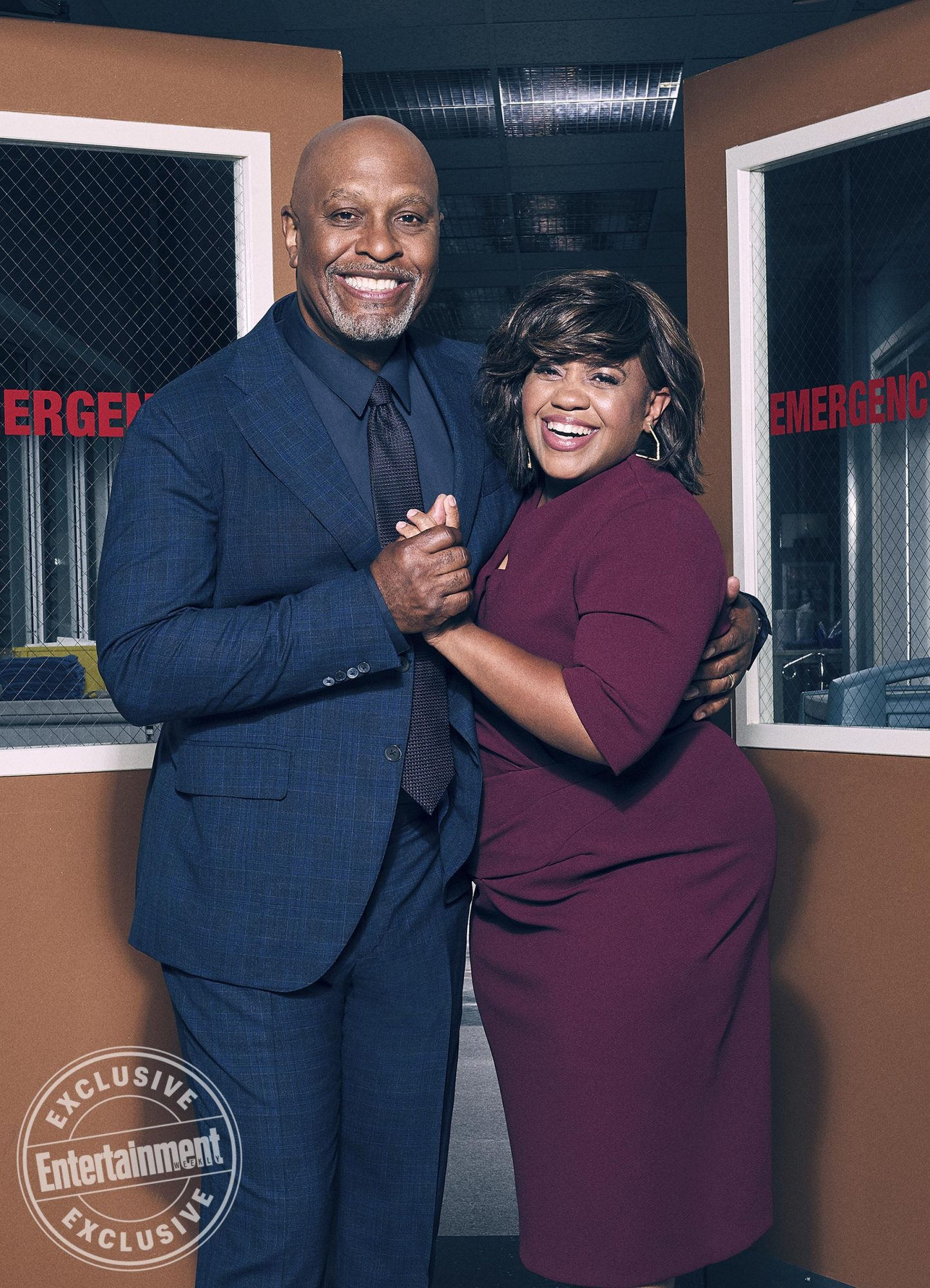 James Pickens Jr. (Dr. Richard Webber) and Chandra Wilson (Dr. Miranda Bailey)