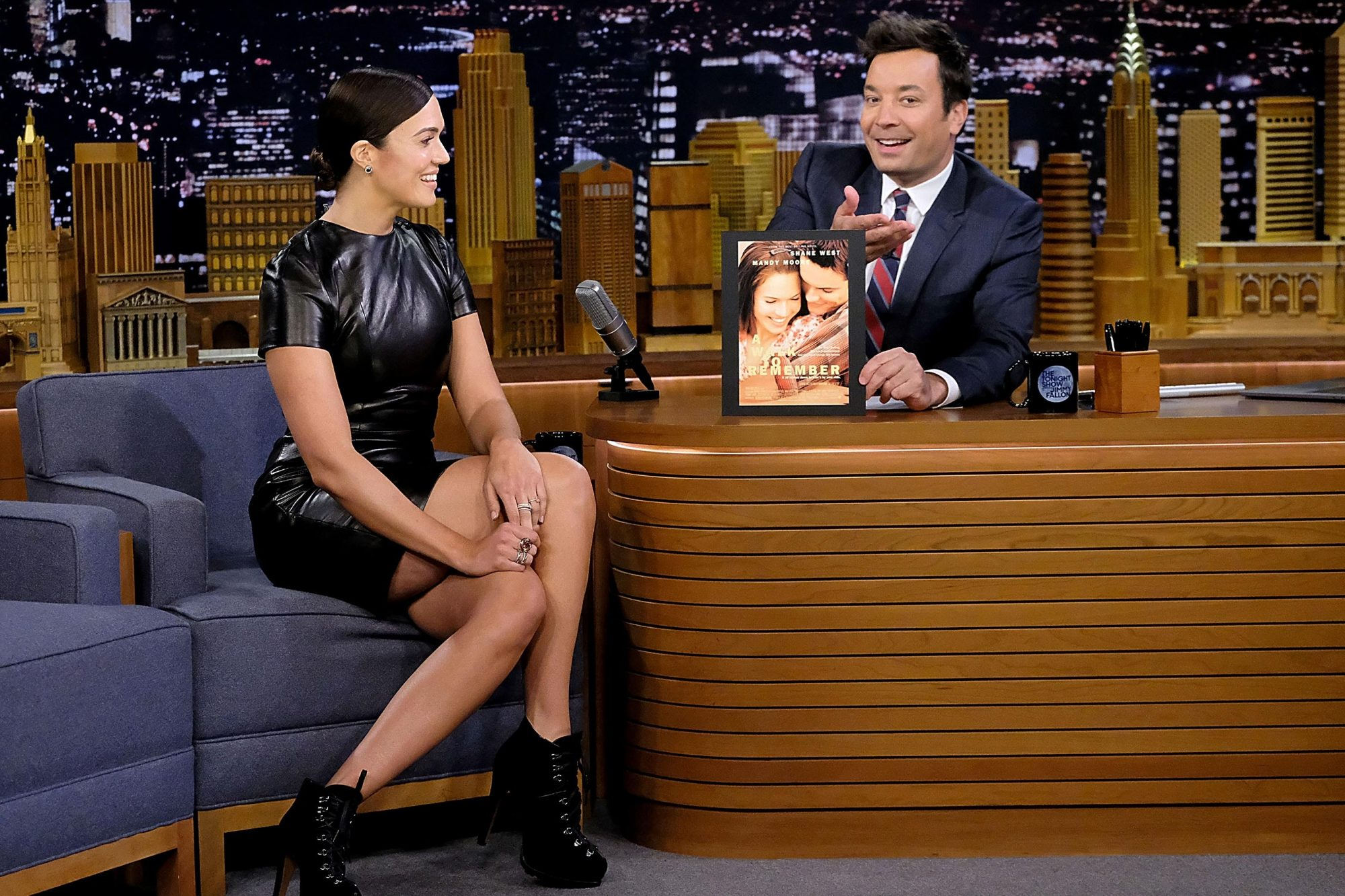 """Mandy Moore Visits """"The Tonight Show Starring Jimmy Fallon"""""""