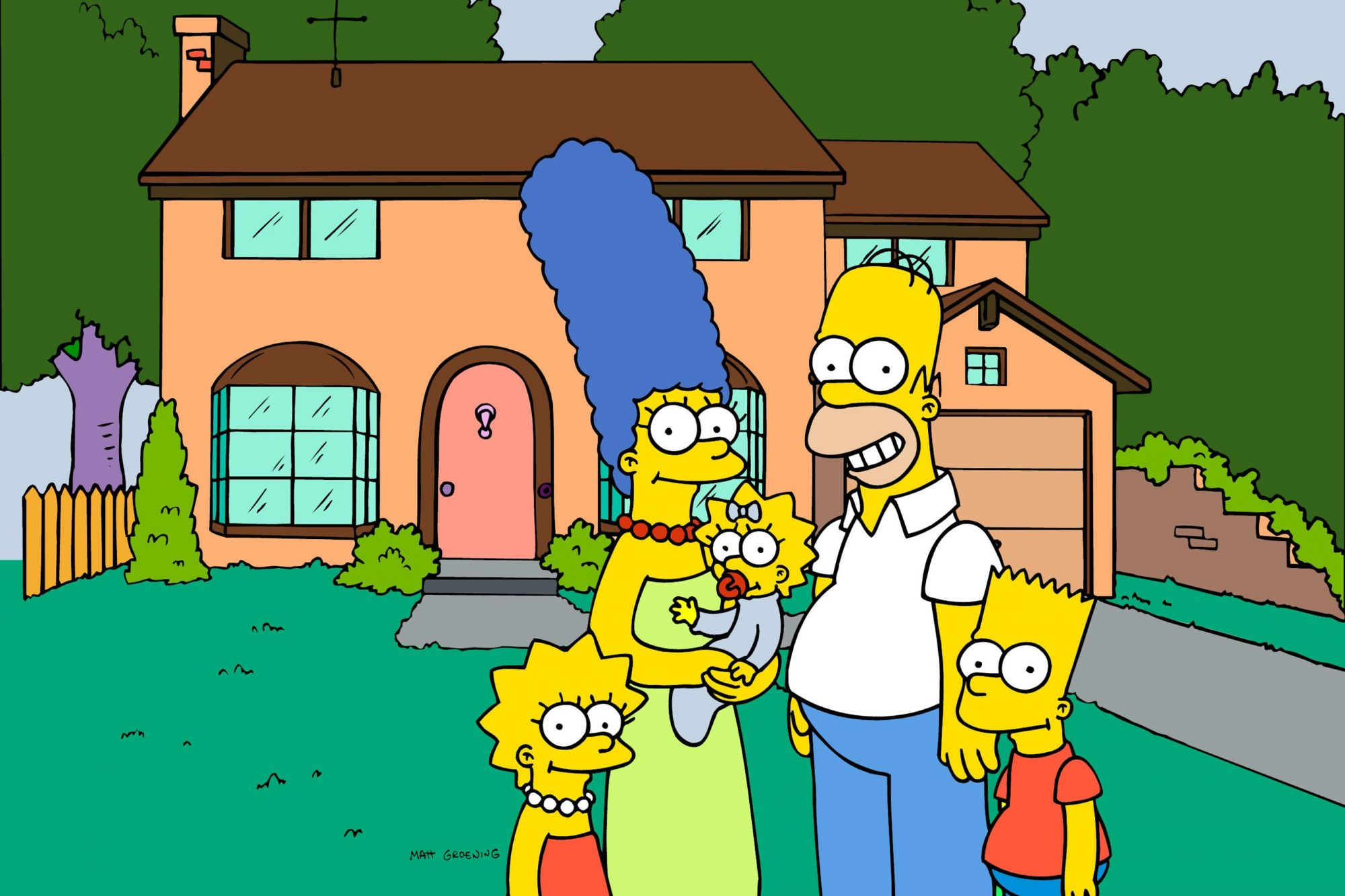 Simpsons family gallery with house