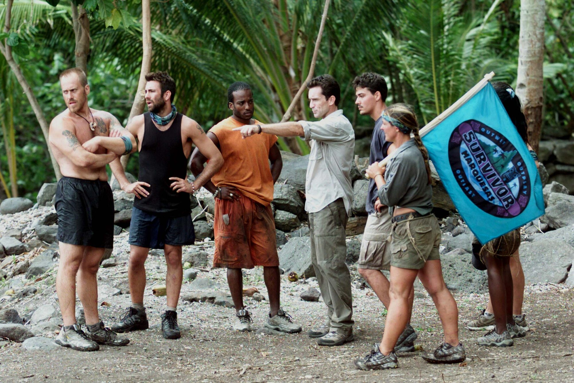 Cast Pepares For A Reward Challenge On 'Survivor: Marquesas'