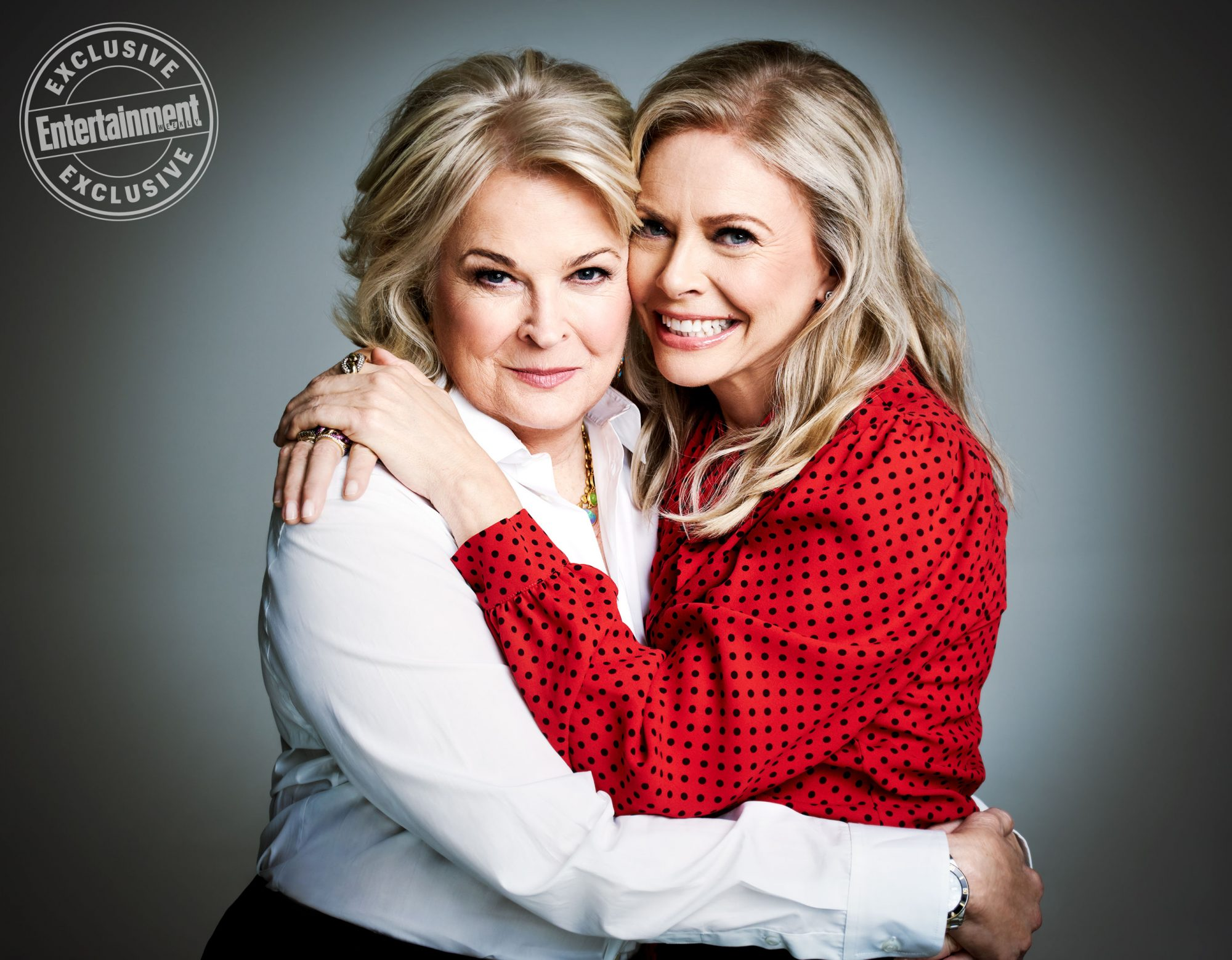 Candice Bergen (Murphy) and Faith Ford (Corky)
