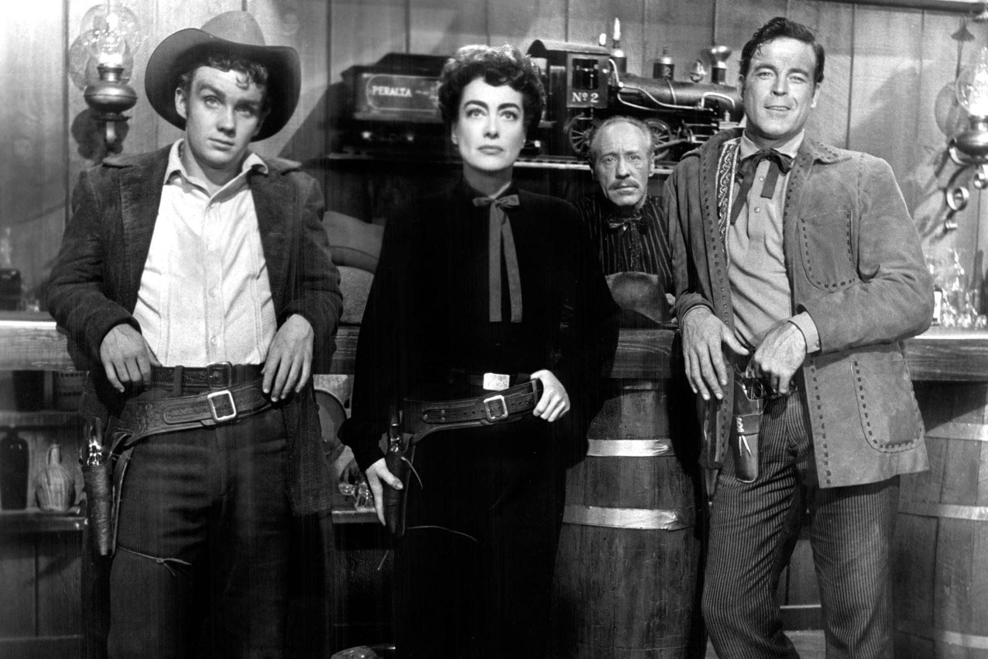 JOHNNY GUITAR, Ben Cooper, Joan Crawford, Frank Ferguson, Scott Brady, 1954