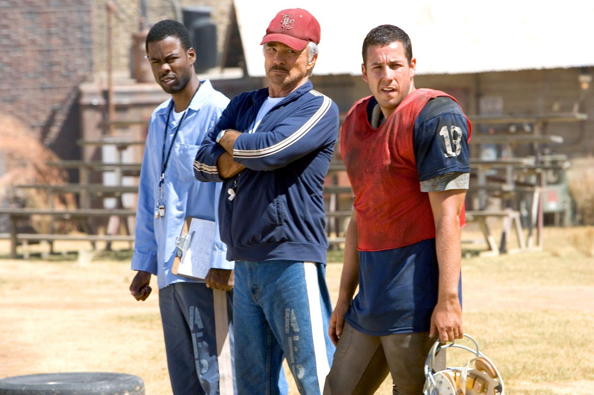 THE LONGEST YARD, Chris Rock, Burt Reynolds, Adam Sandler, 2005, (c) Paramount/courtesy Everett Coll