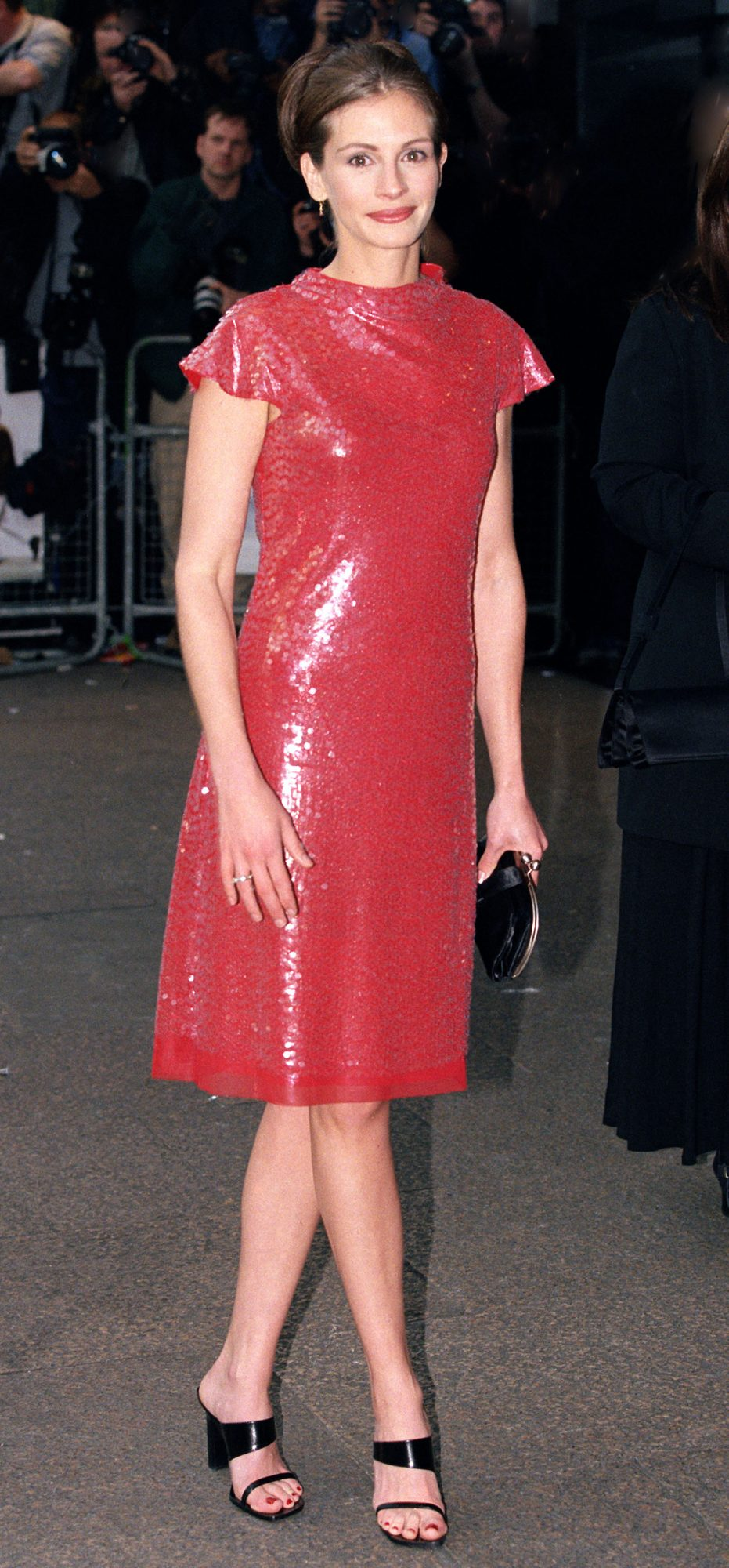 At the London premiere of Notting Hill, 1999
