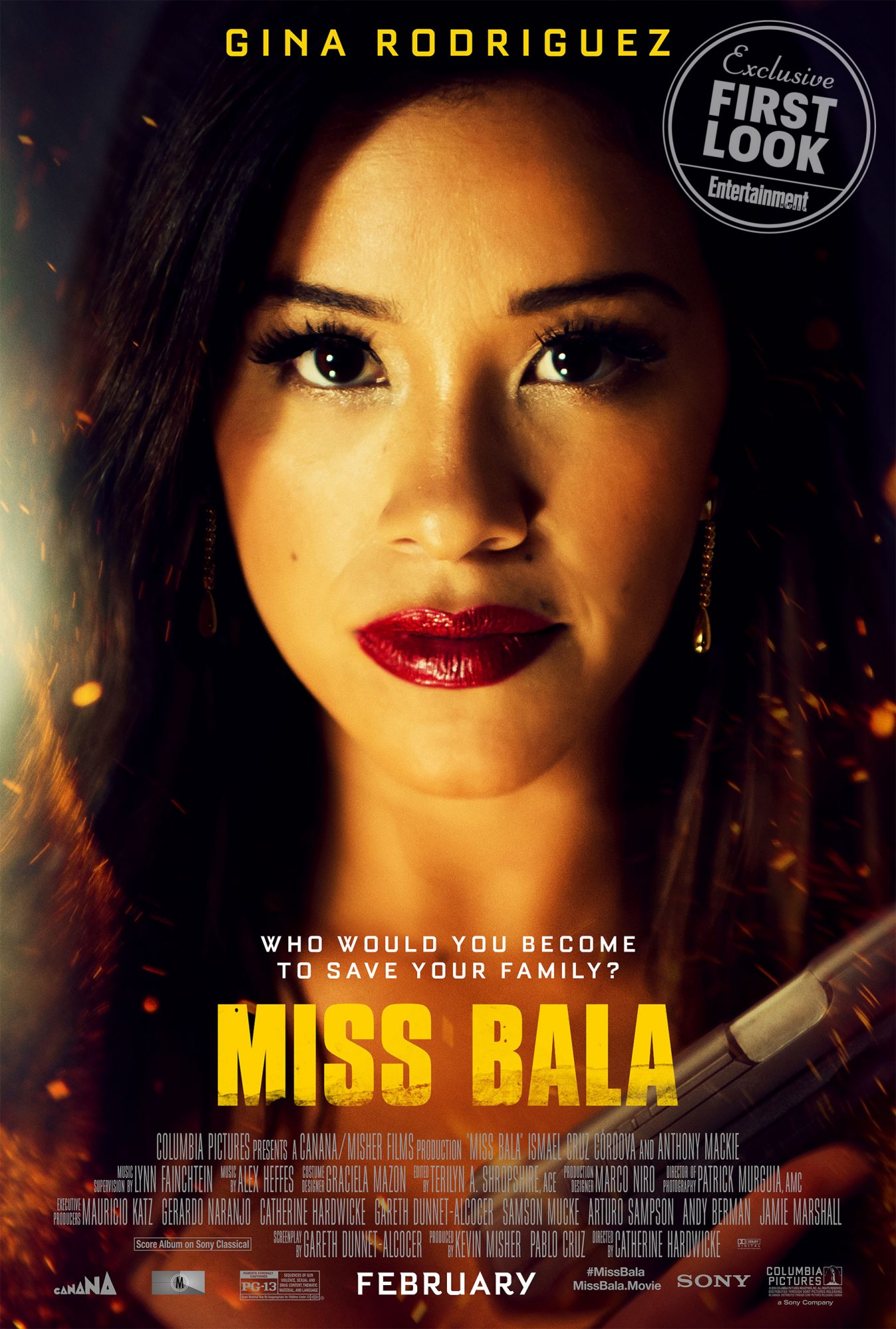 Miss Bala first look posterCR: Sony