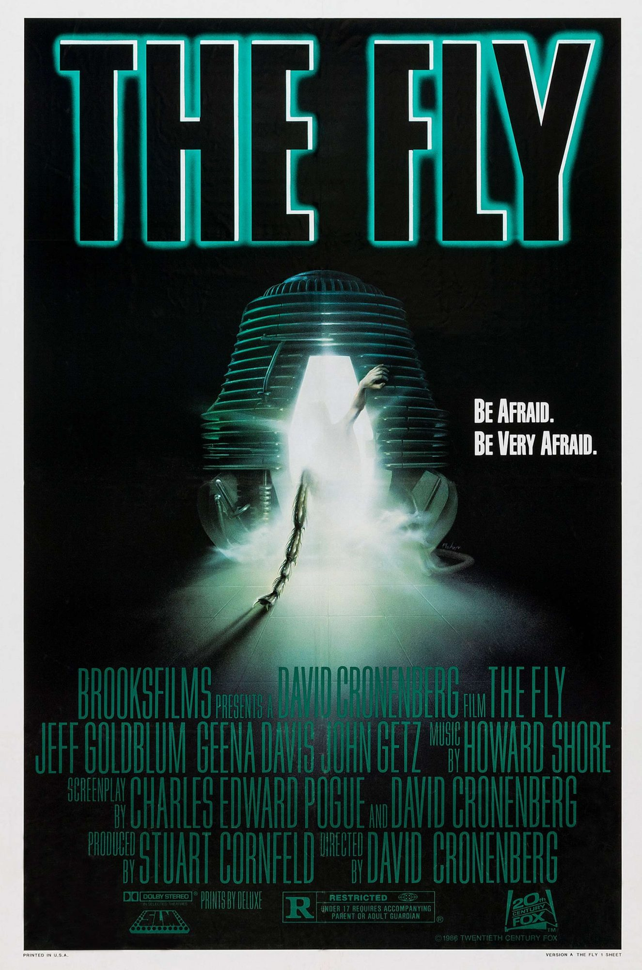 THE FLY, US poster art, 1986. TM and Copyright 20th Century Fox Film Corp. All rights reserved/court