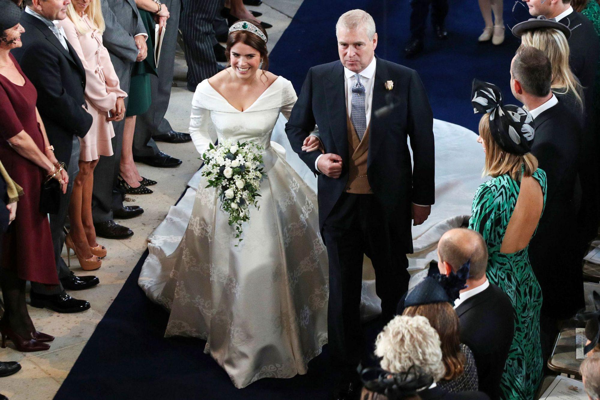 The wedding of Princess Eugenie and Jack Brooksbank, Ceremony, St George's Chapel, Windsor Castle, Berkshire, UK -  12 Oct 2018