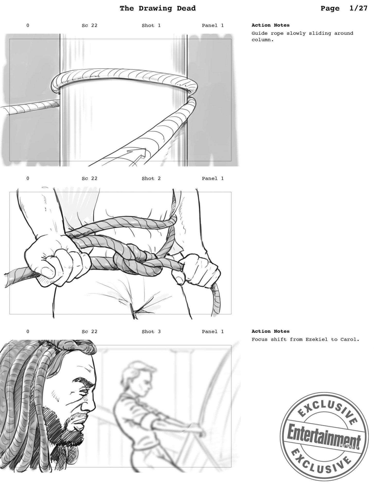 Walking Dead Storyboards from Season 9, Episode 1 Director Greg Nicotero