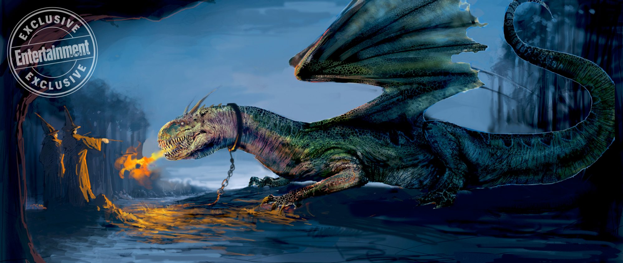 Harry Potter and the Goblet of FireWelsh Green Dragon concept art