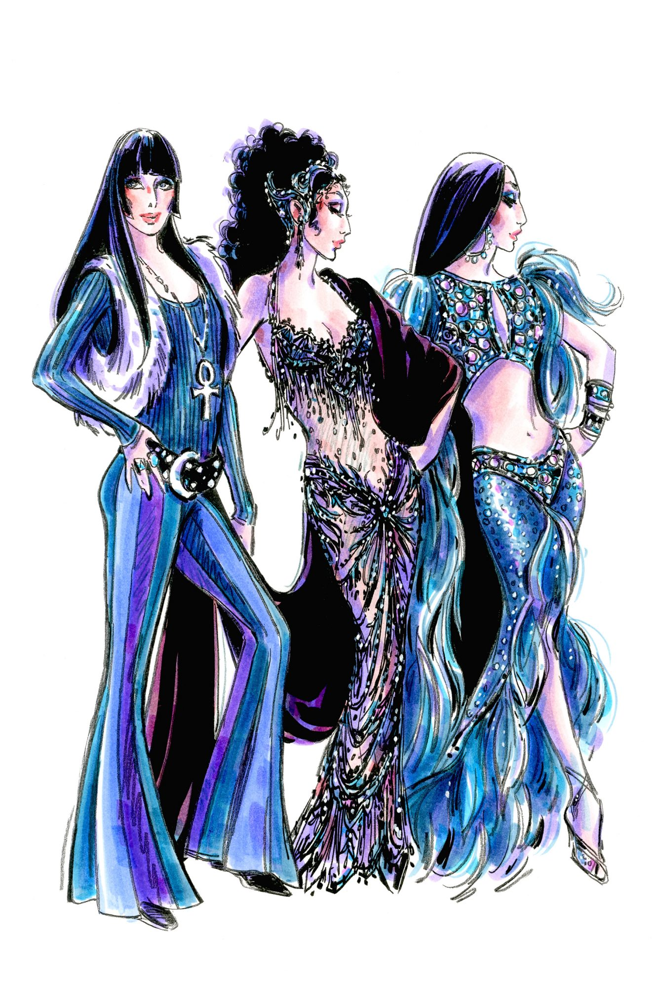The Cher Showon BroadwayCostume Sketches