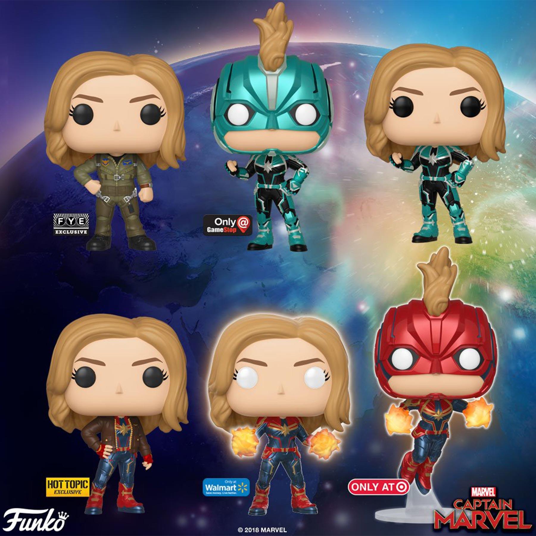 Captain Marvel Funko DollsCR: Funko