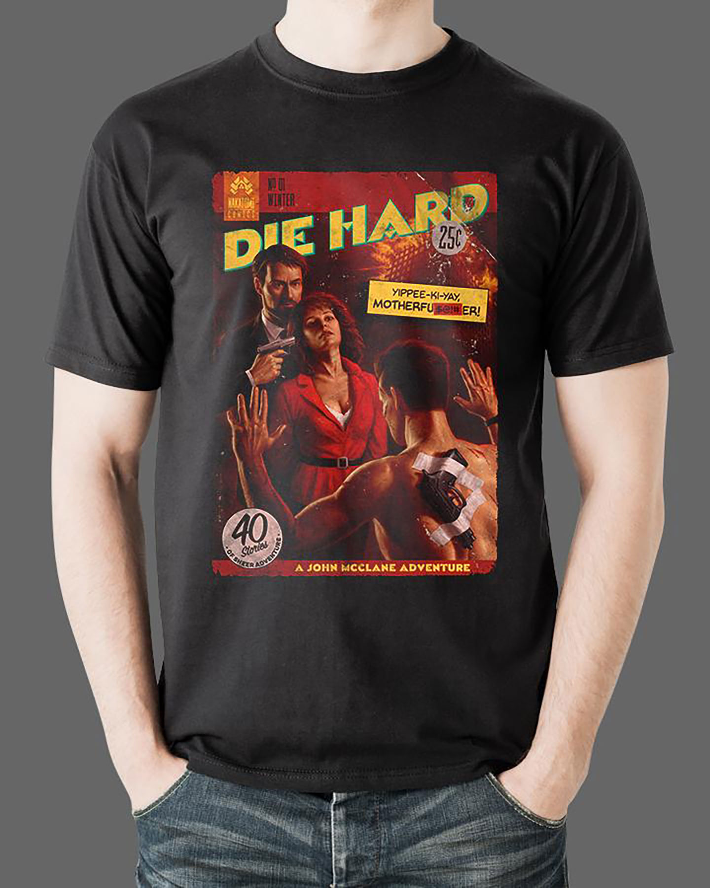 """Die Hard giftsDie Hard """"Pulp Novel"""" Tee (Available at FrightRags.com)"""