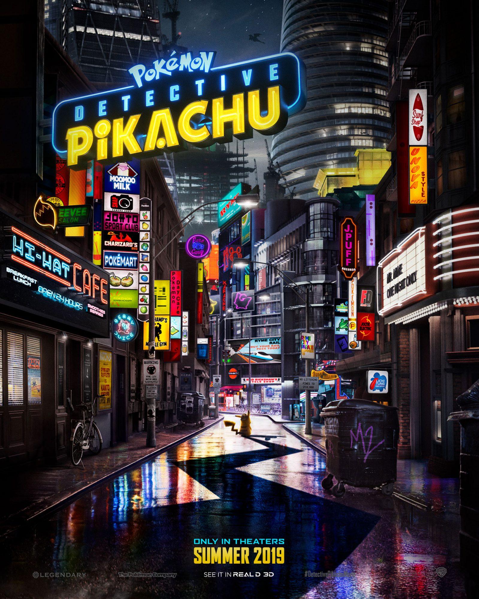 POKÉMON Detective Pikachu (2019) movie posterCR: Warner Bros. Pictures