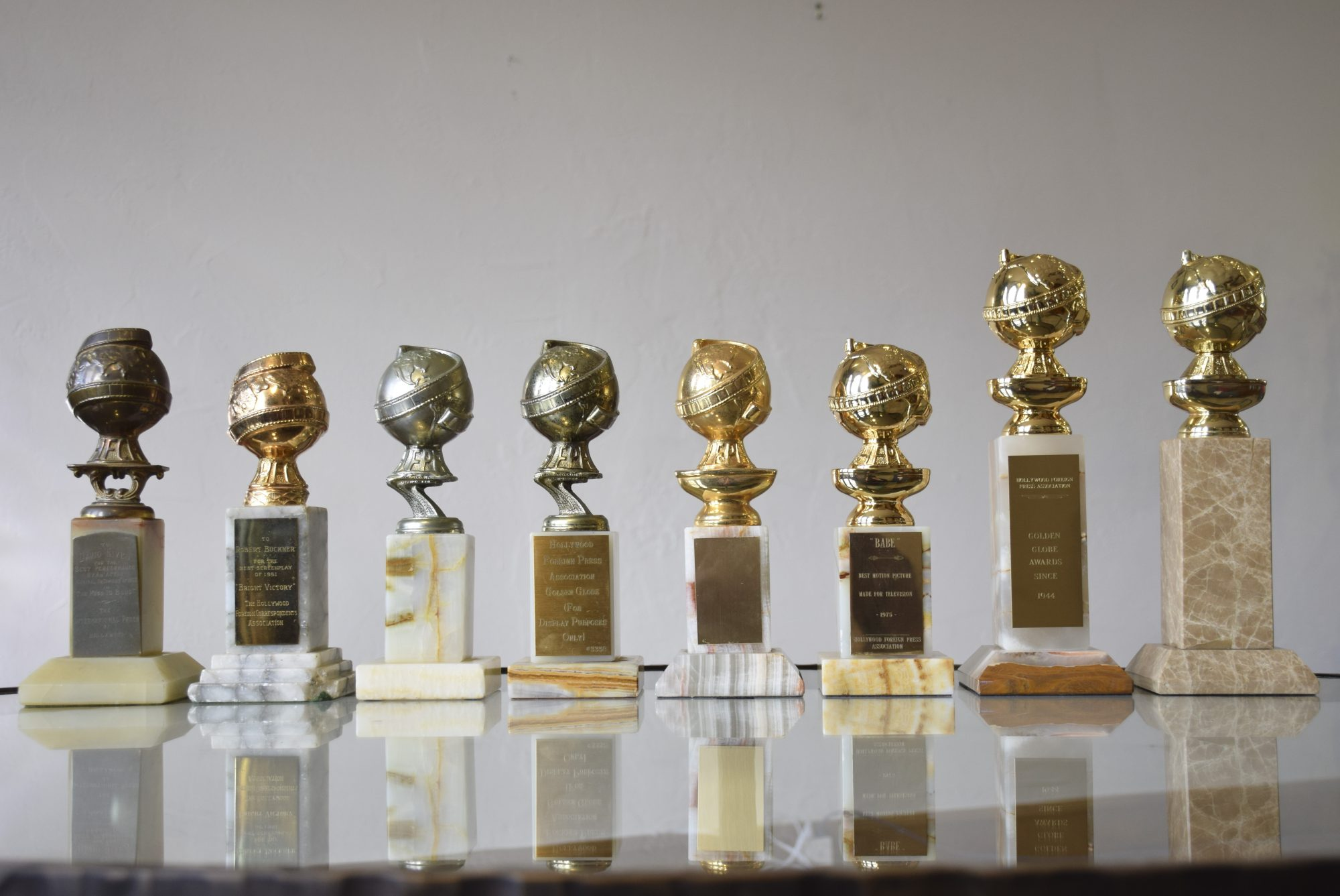 Golden Globe Awards from the 1950s - 2000s