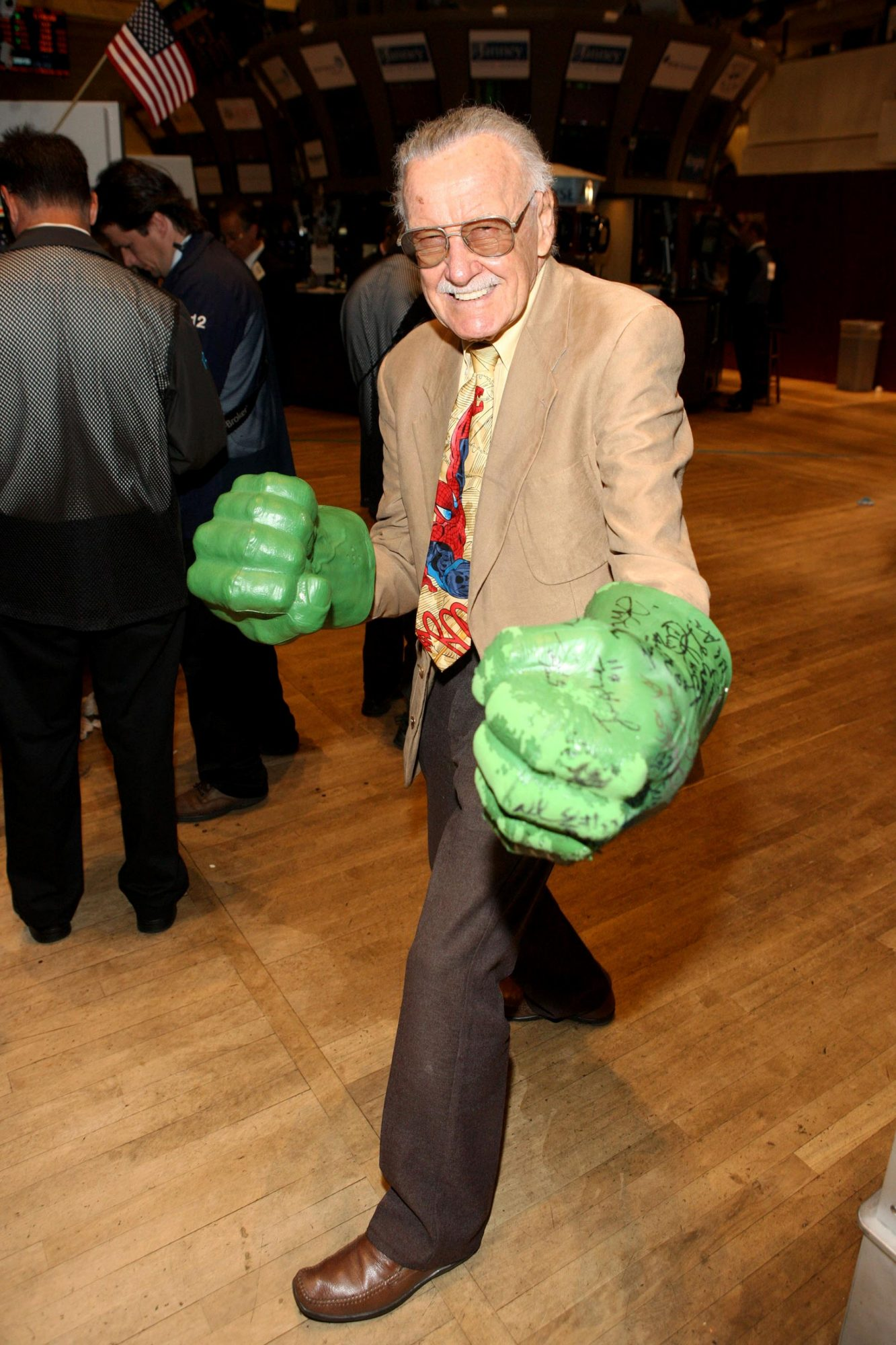 Stan Lee Visits The New York Stock Exchange - October 5, 2010