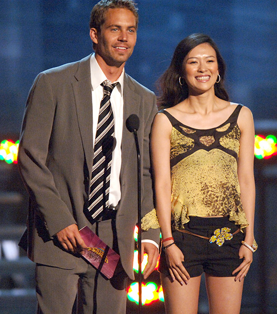 Paul Walker With Ziyi Zhang at the 2005 MTV Movie Awards on June 4, 2005