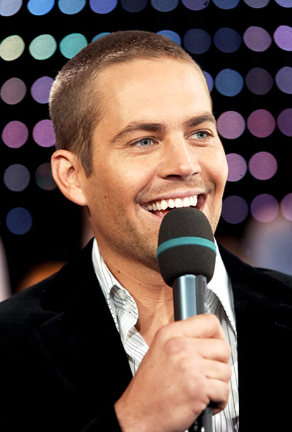 Paul Walker on MTV's TRL in New York City on February 14, 2006