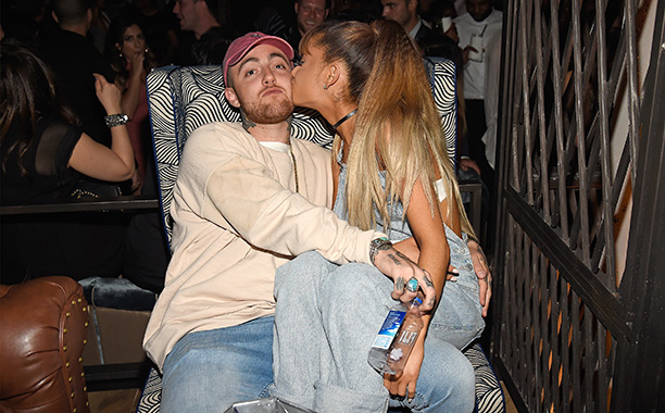 Mac Miller and Ariana Grande at the 2016 MTV Video Music Awards Republic Records After Party
