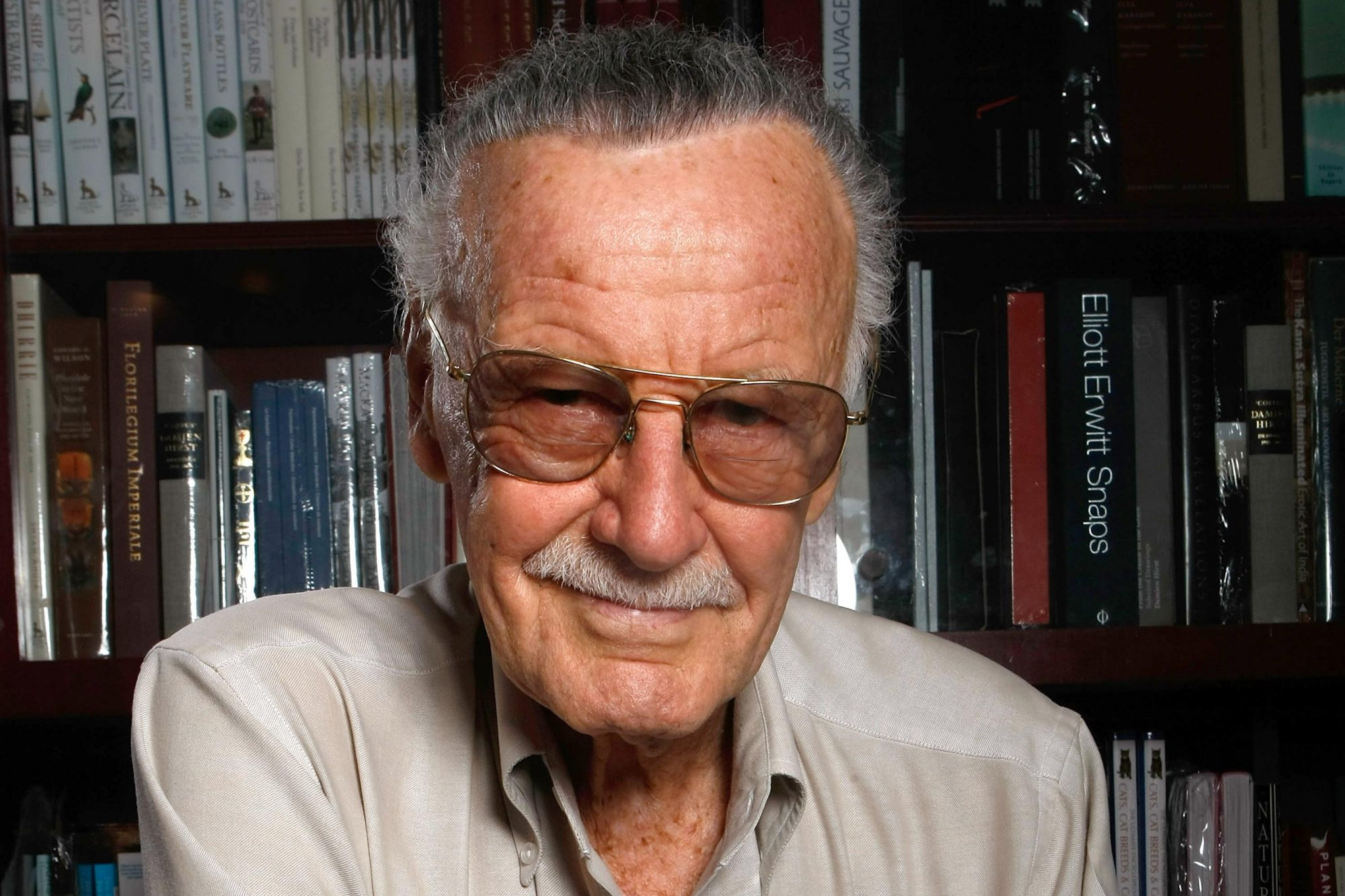 Stan Lee Portrait Session And Book Signing At Book Soup