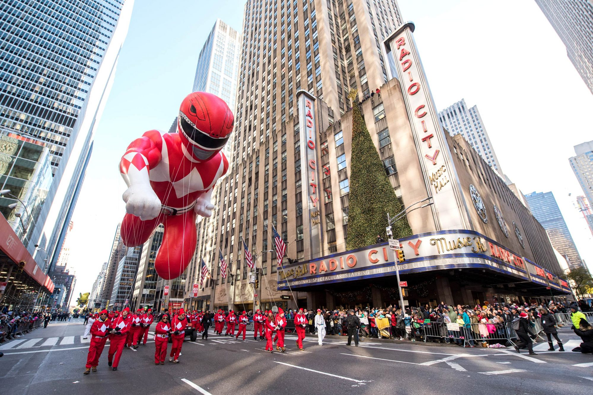 Power Rangers Balloon at the 91st Annual Macy's Thanksgiving Day Parade