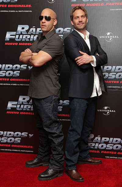 Paul Walker With Vin Diesel at the Fast & Furious Photo Call in Mexico City on March 27, 2009
