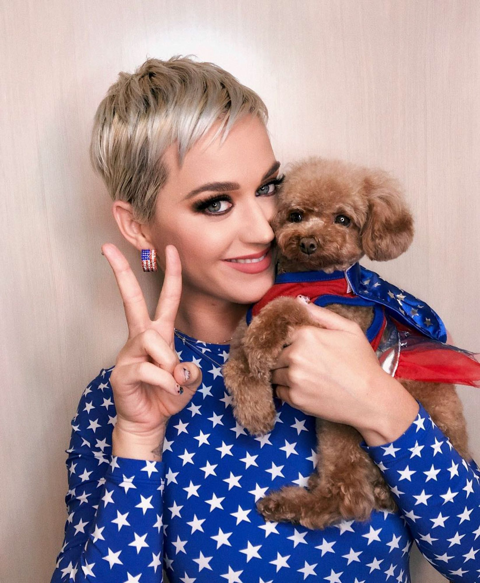 Katy Perryhttps://www.instagram.com/p/Bp2GALLERY: Election Day Celebs5J-GnjYK/CR: Katy Perry/Instagram