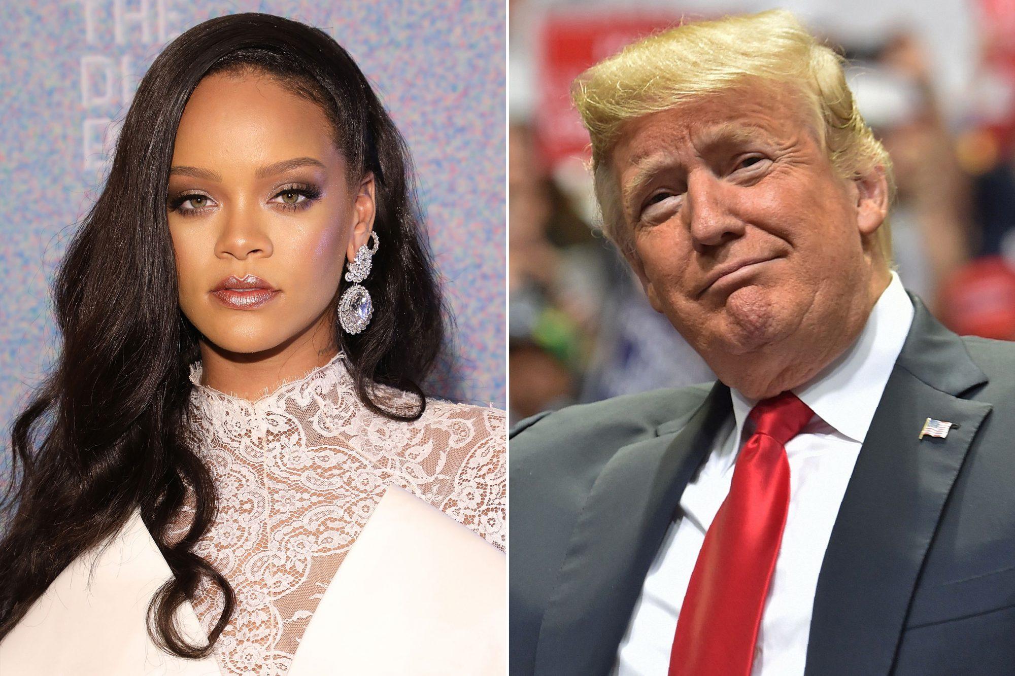 Rihanna-Donald-Trmp