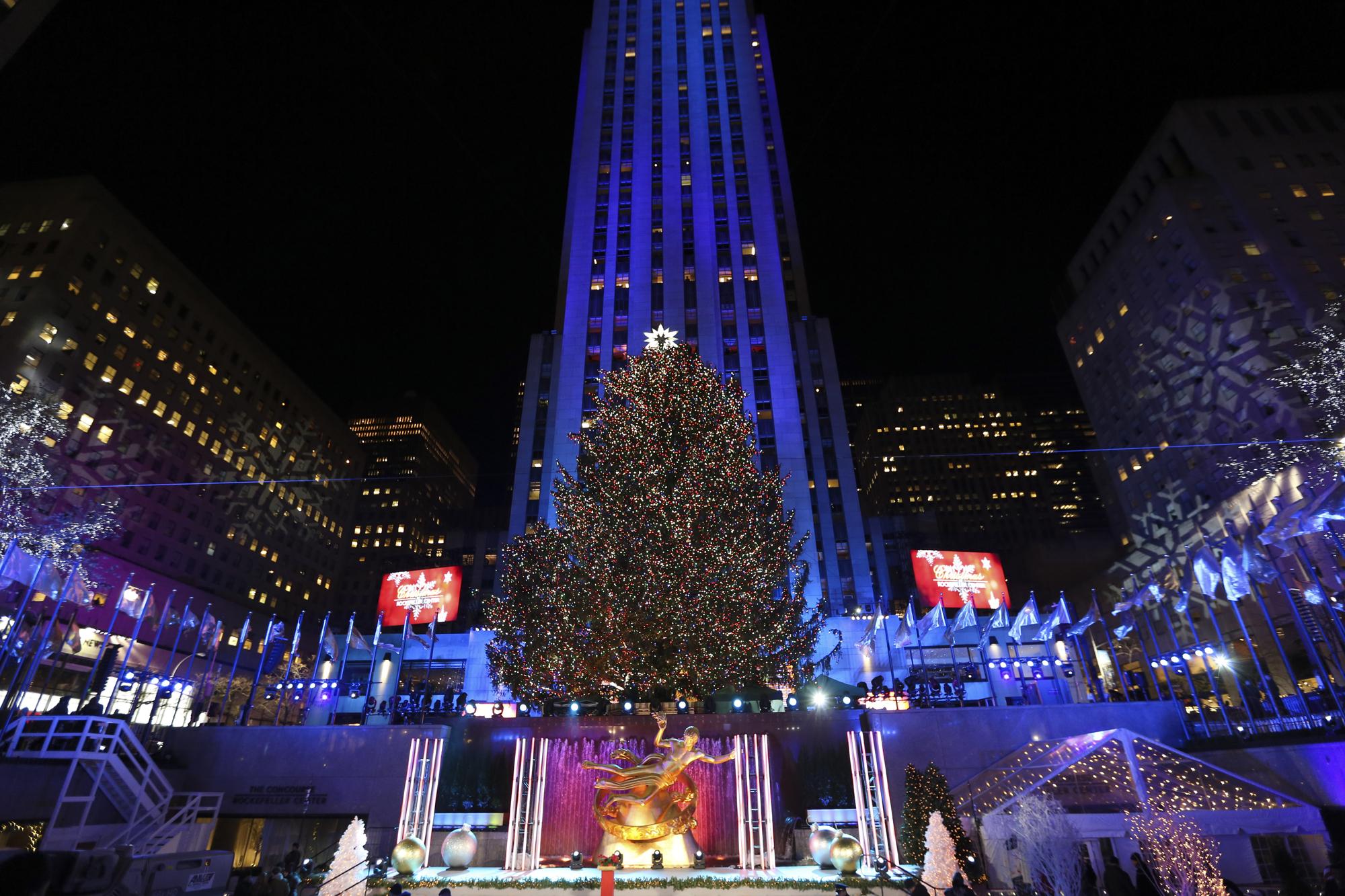 U.S.-NEW YORK-ROCKEFELLER-CHRISTMAS TREE