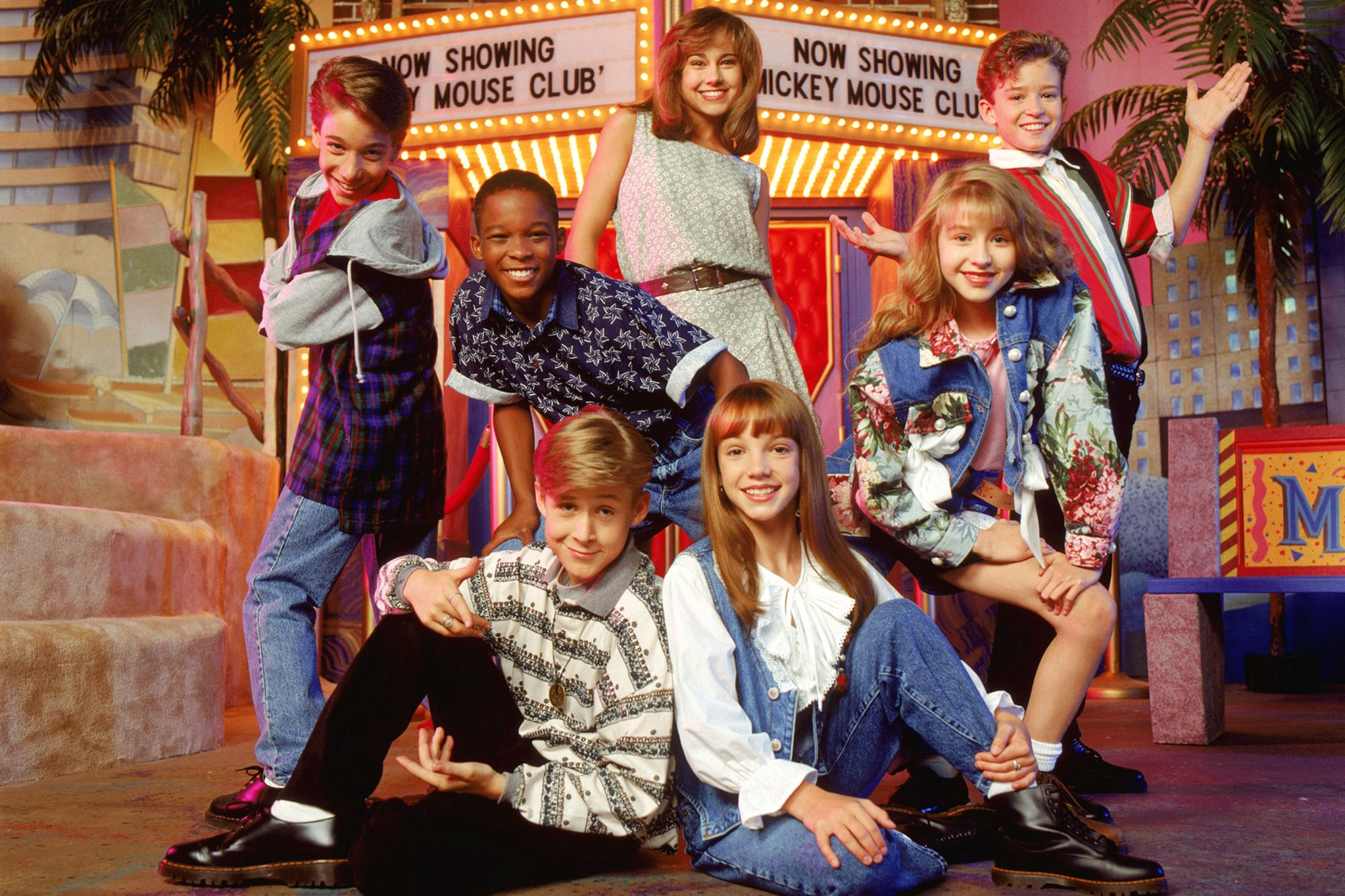 MICKEY MOUSE CLUB (aka MMC), (clockwise from upper center): Nikki DeLoach, Justin Timberlake, Christ